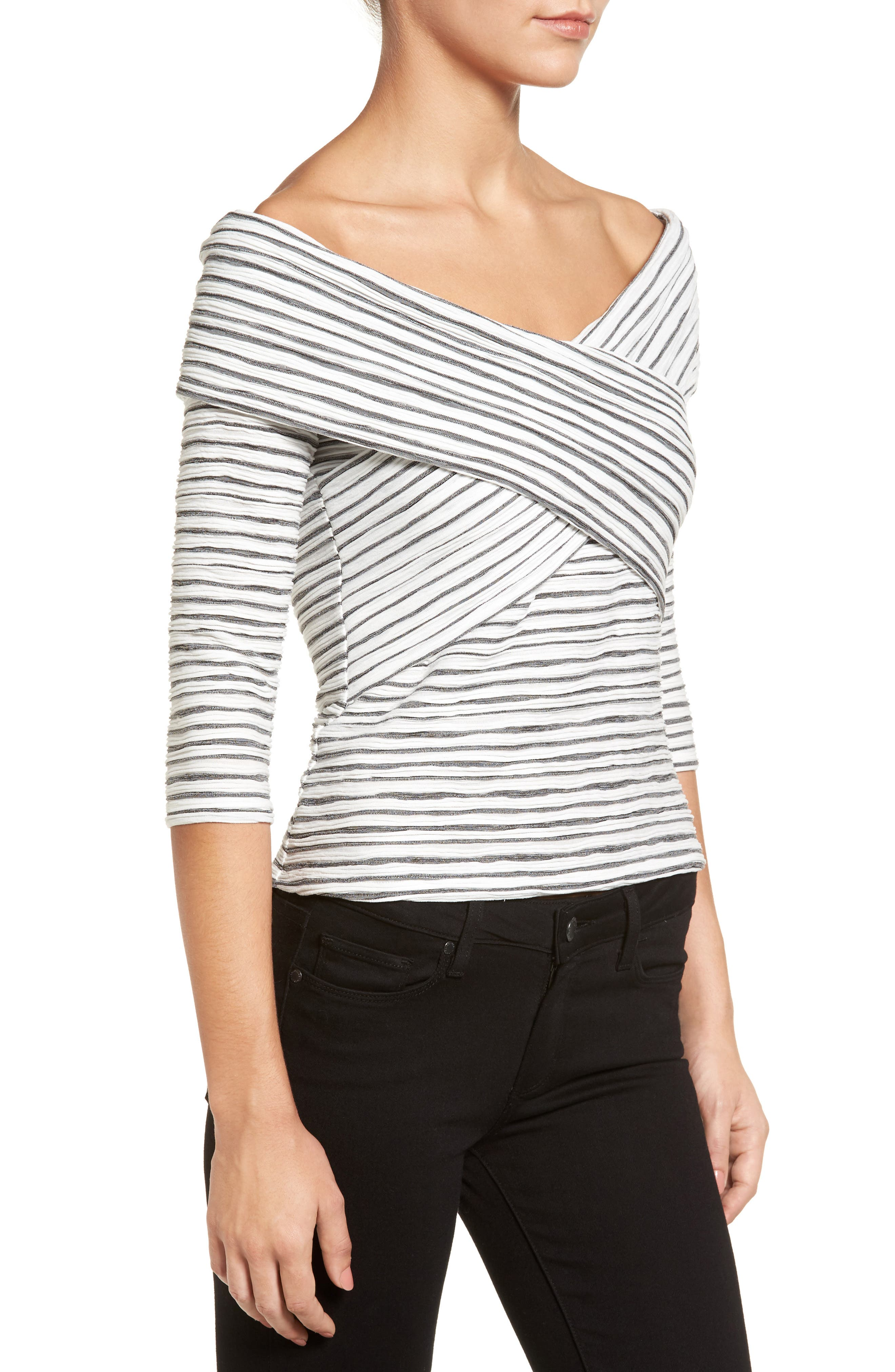 Crossover Stripe Top,                             Alternate thumbnail 9, color,