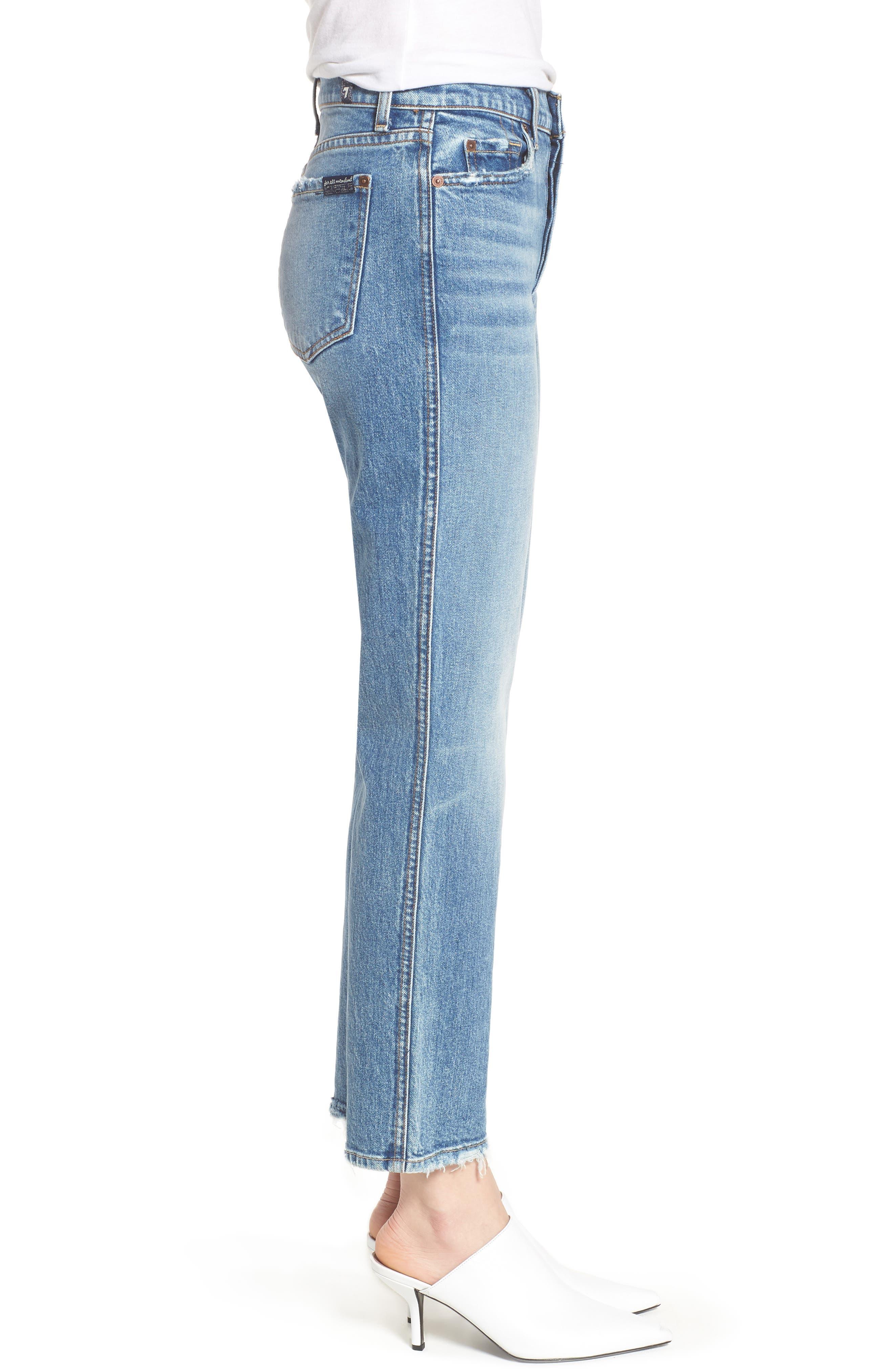 Edie High Waist Crop Straight Leg Jeans,                             Alternate thumbnail 15, color,