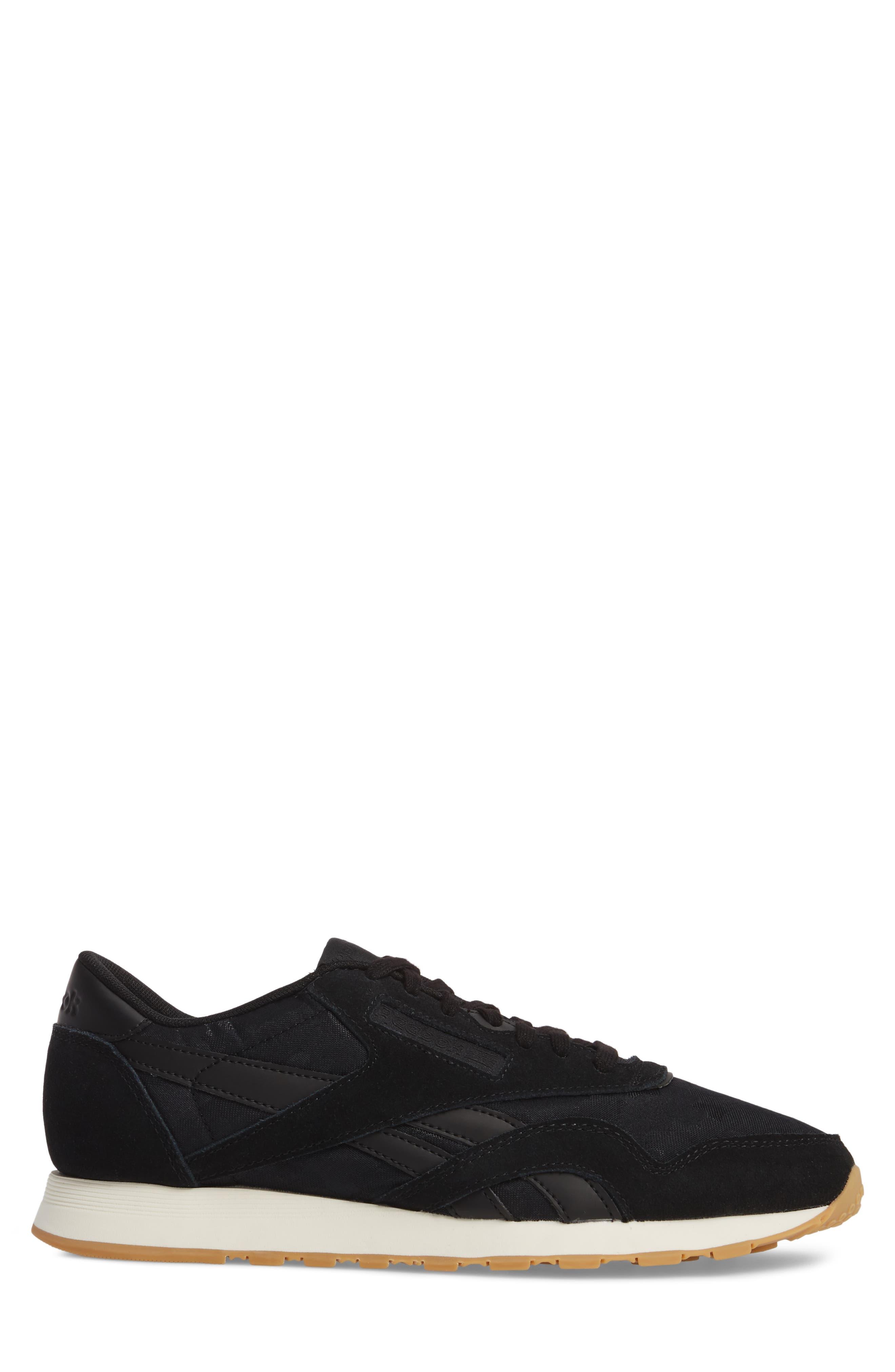 Classic Leather Nylon SG Sneaker,                             Alternate thumbnail 3, color,                             001