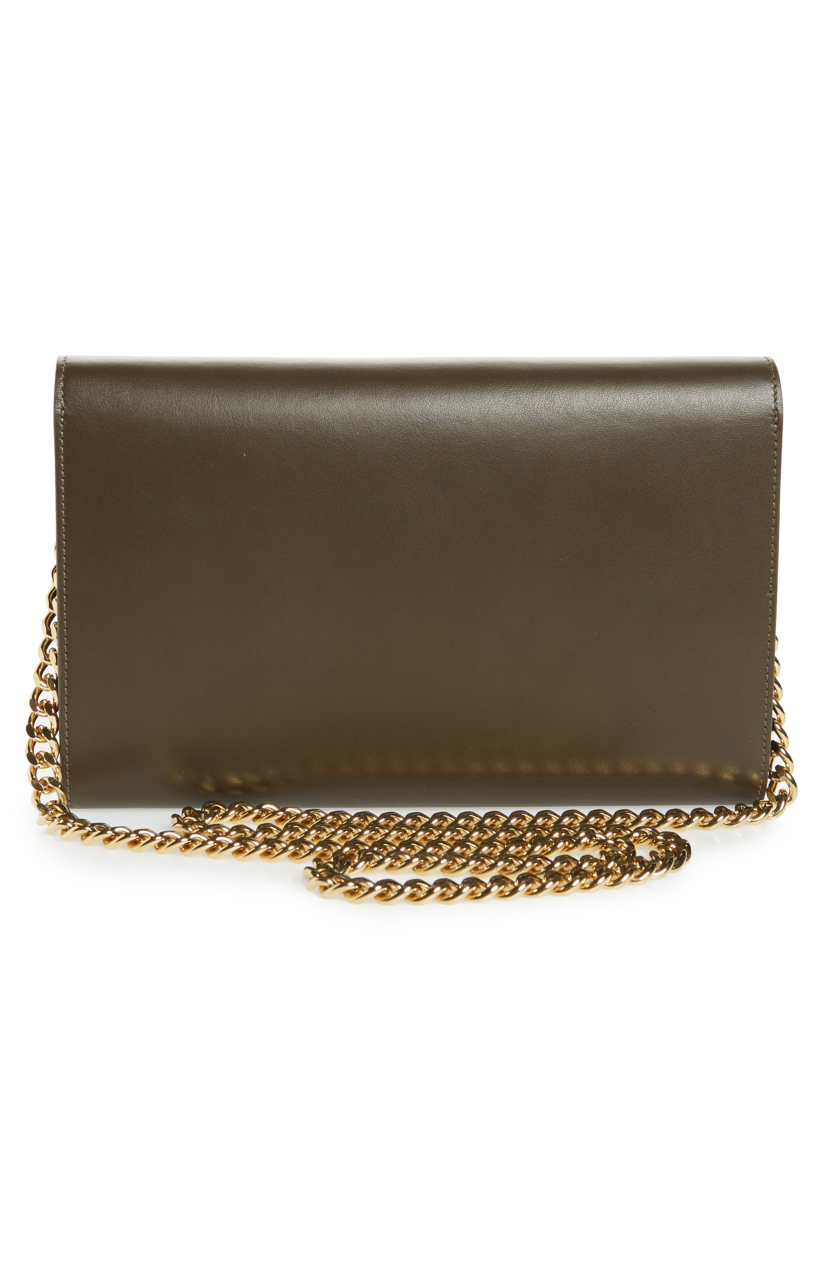 Leather Wallet on a Chain,                             Alternate thumbnail 6, color,