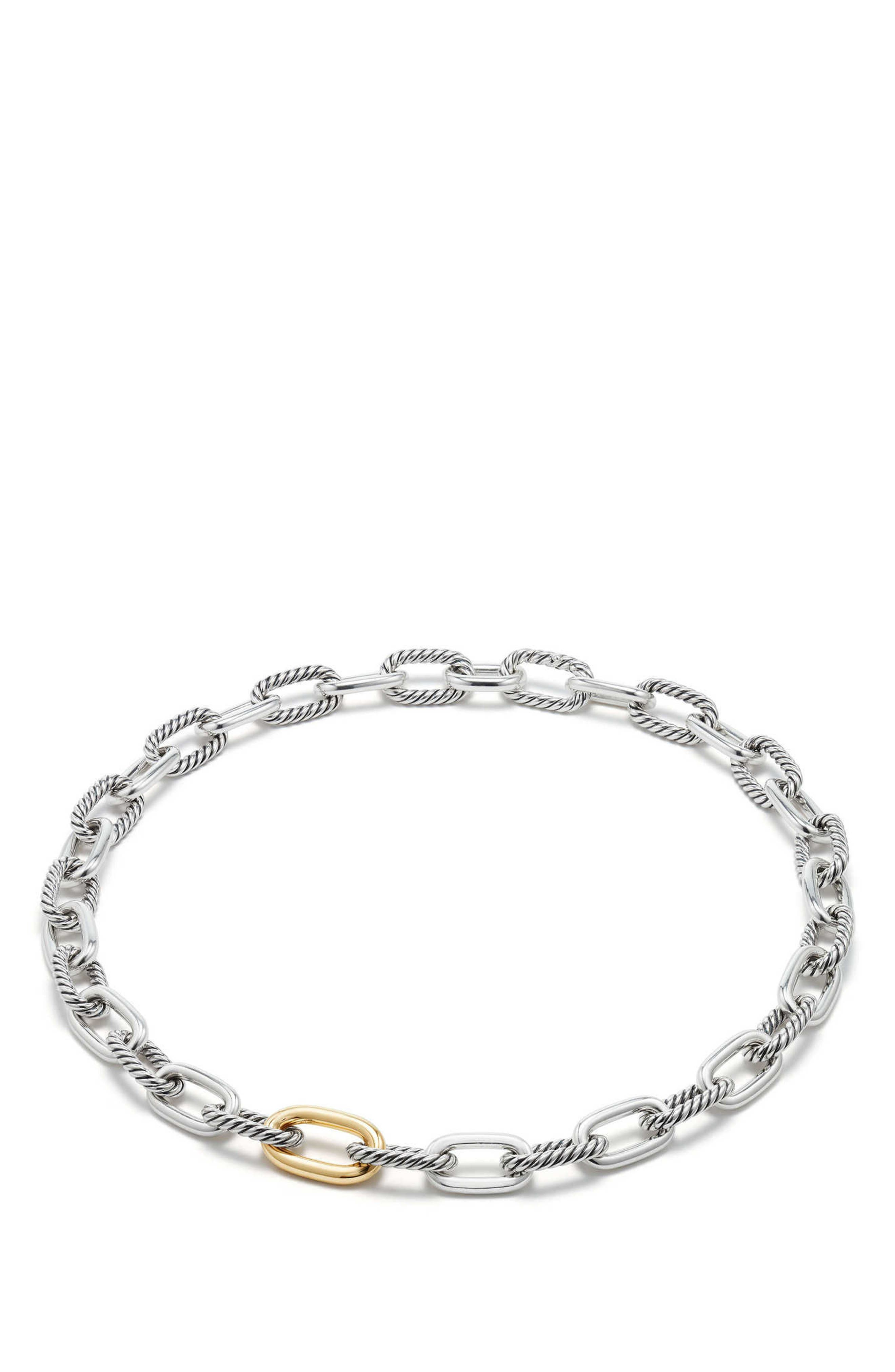 Madison Chain Medium Necklace,                             Alternate thumbnail 2, color,                             GOLD/ SILVER