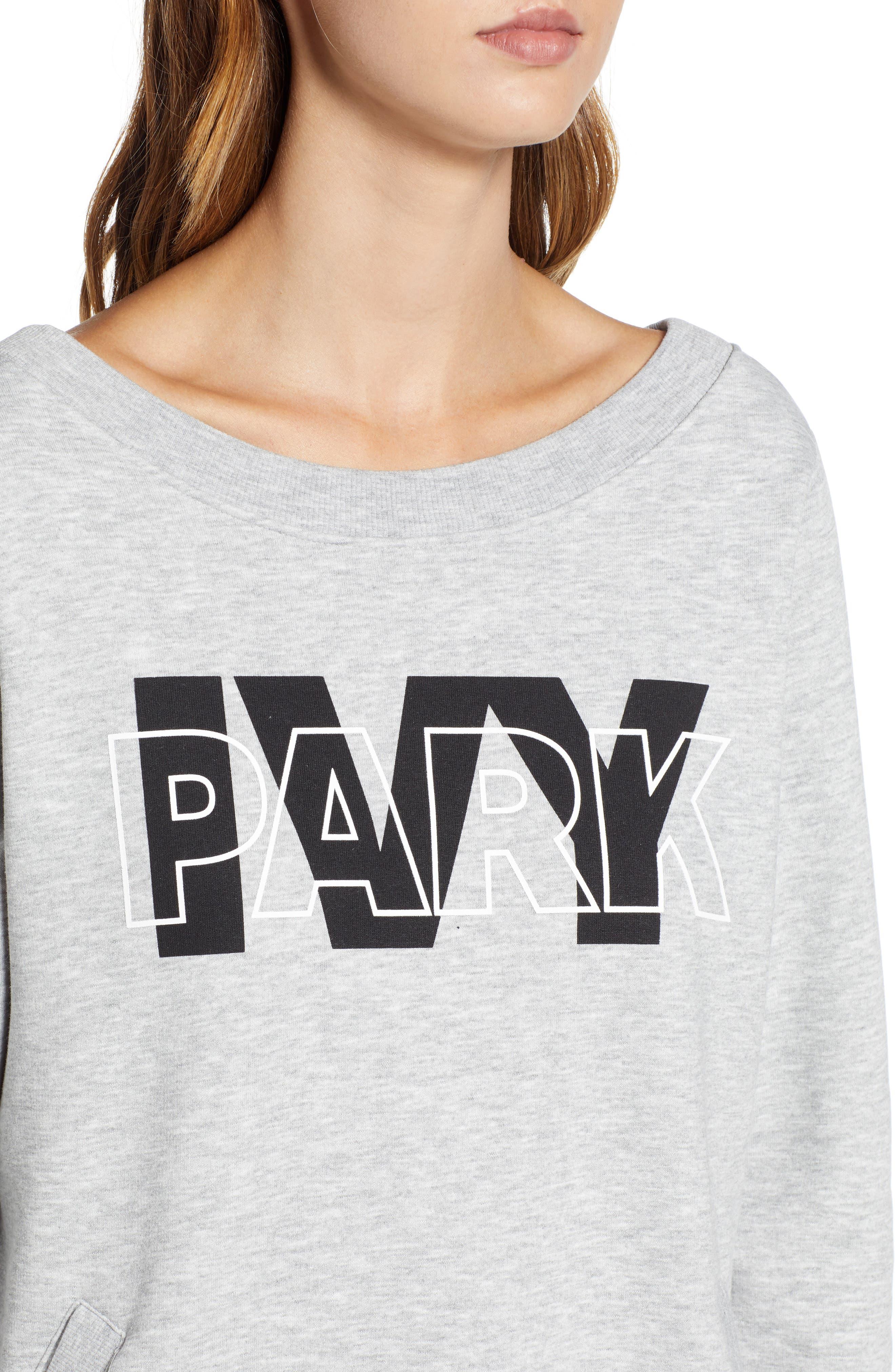 Layered Logo Sweatshirt Dress,                             Alternate thumbnail 4, color,                             020