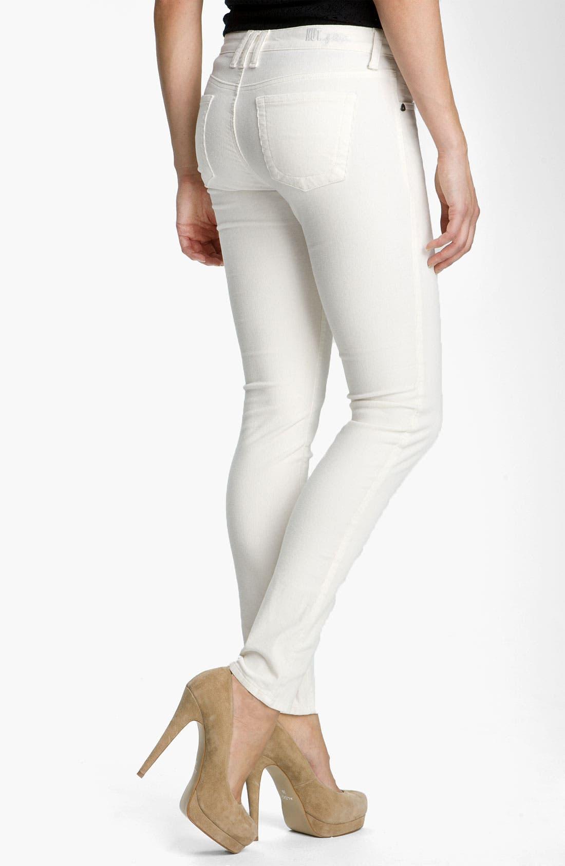 'Diana' Stretch Corduroy Skinny Pants,                             Alternate thumbnail 101, color,