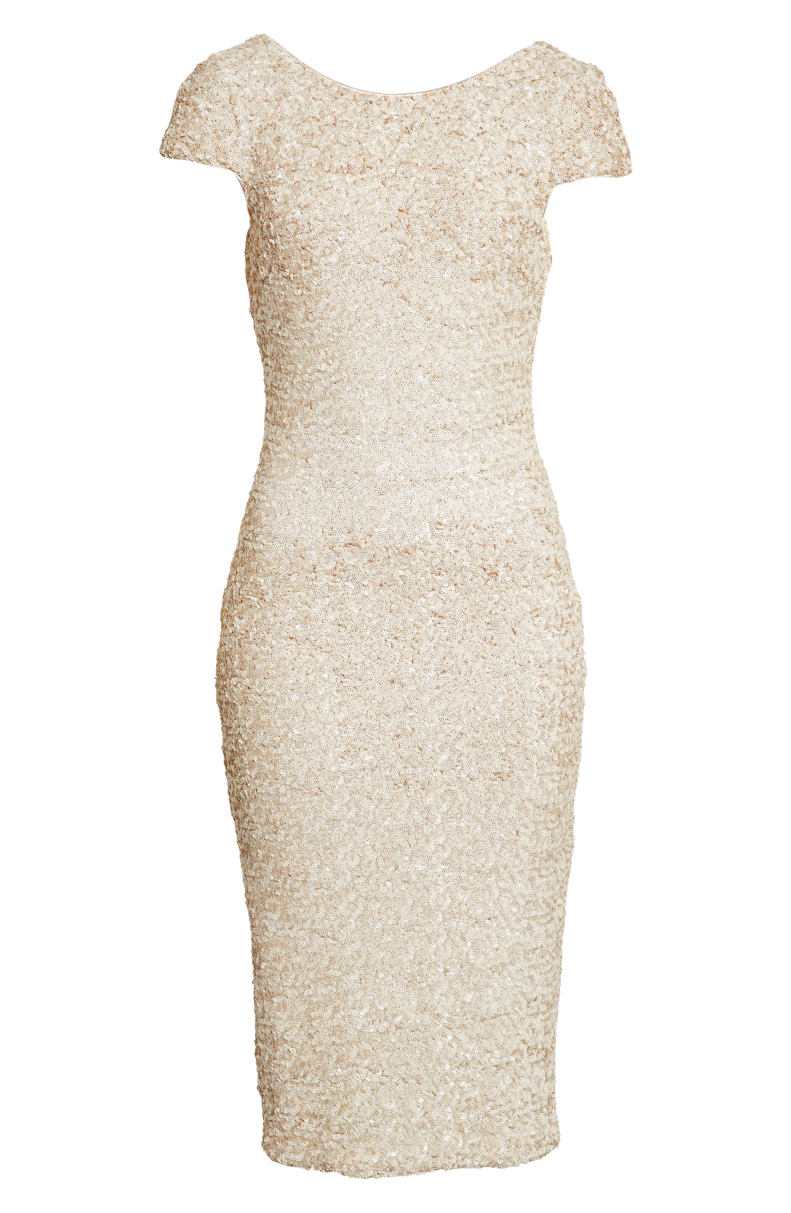 Marcella Sequin Midi Dress,                             Alternate thumbnail 4, color,                             271