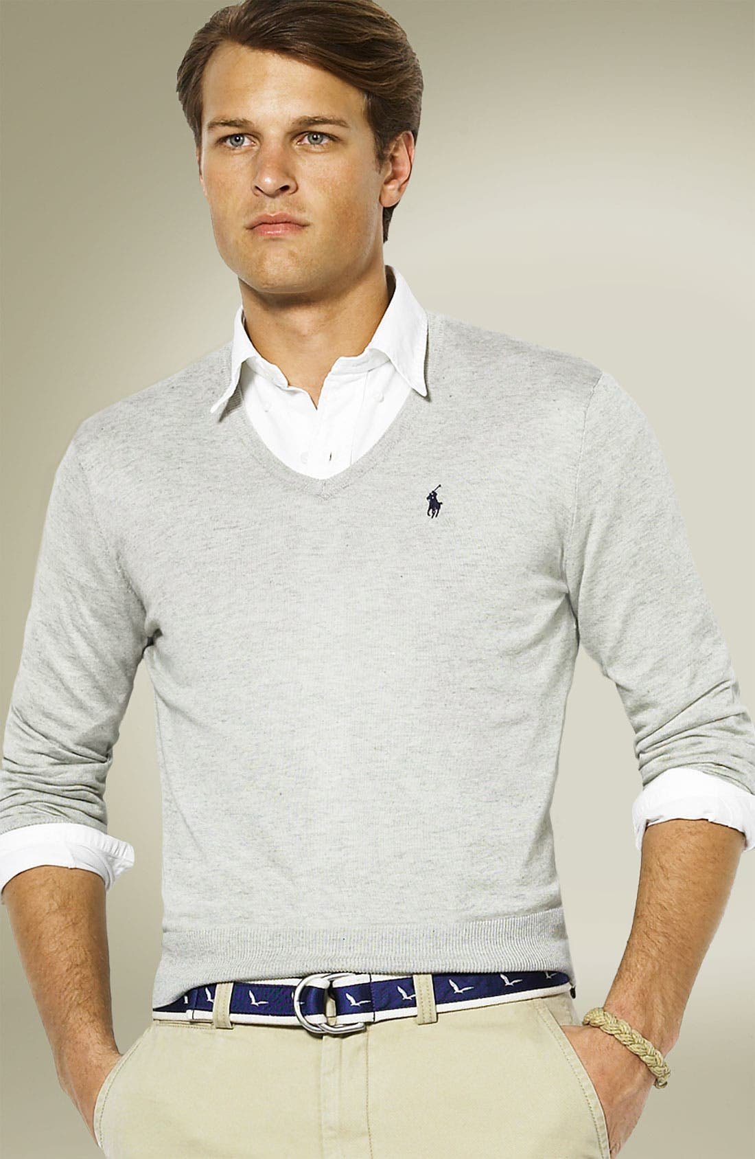 'Luxe' V-Neck Sweater,                         Main,                         color, 050