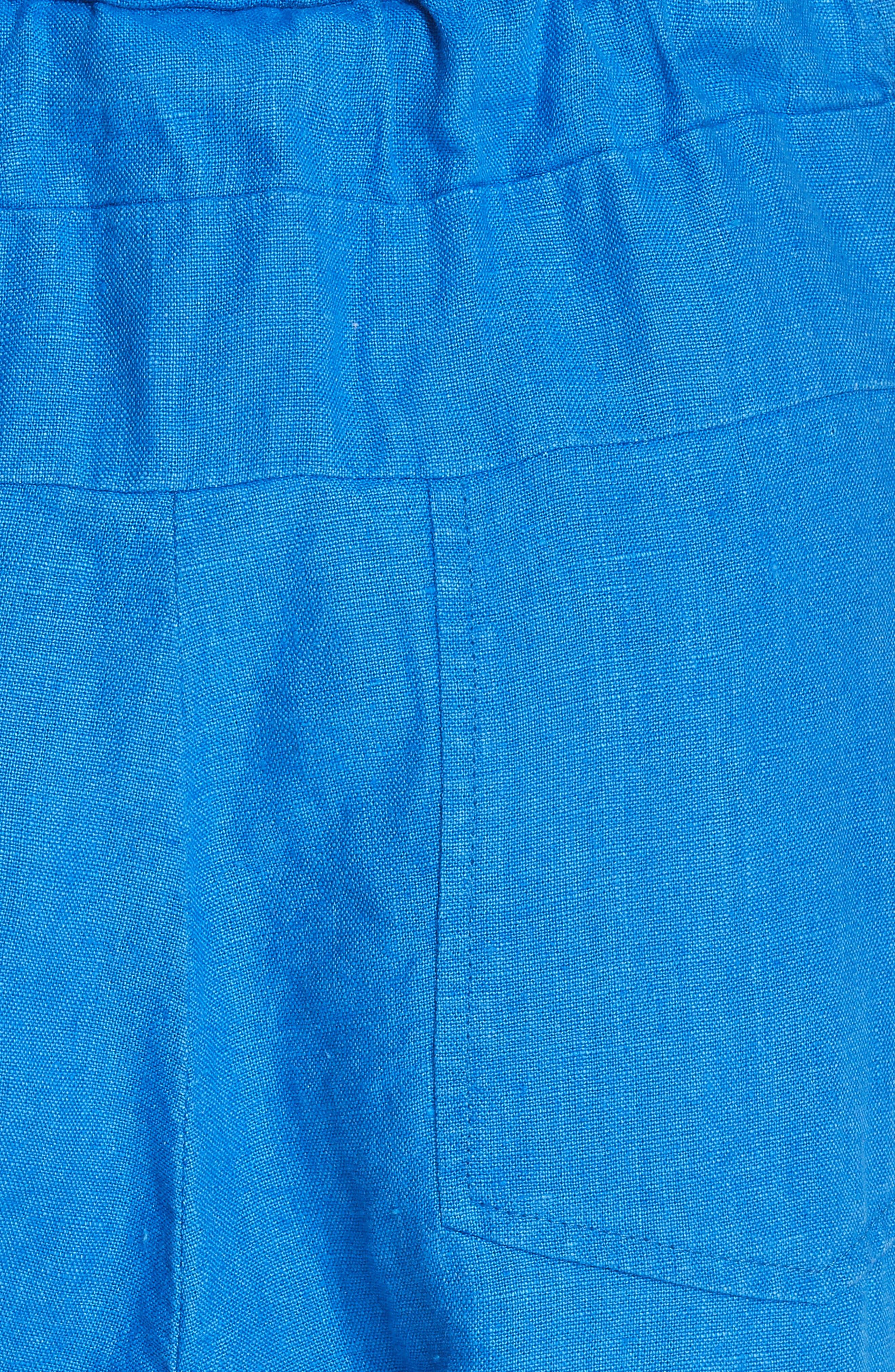Bend Linen Jumpsuit,                             Alternate thumbnail 5, color,                             LAPIS