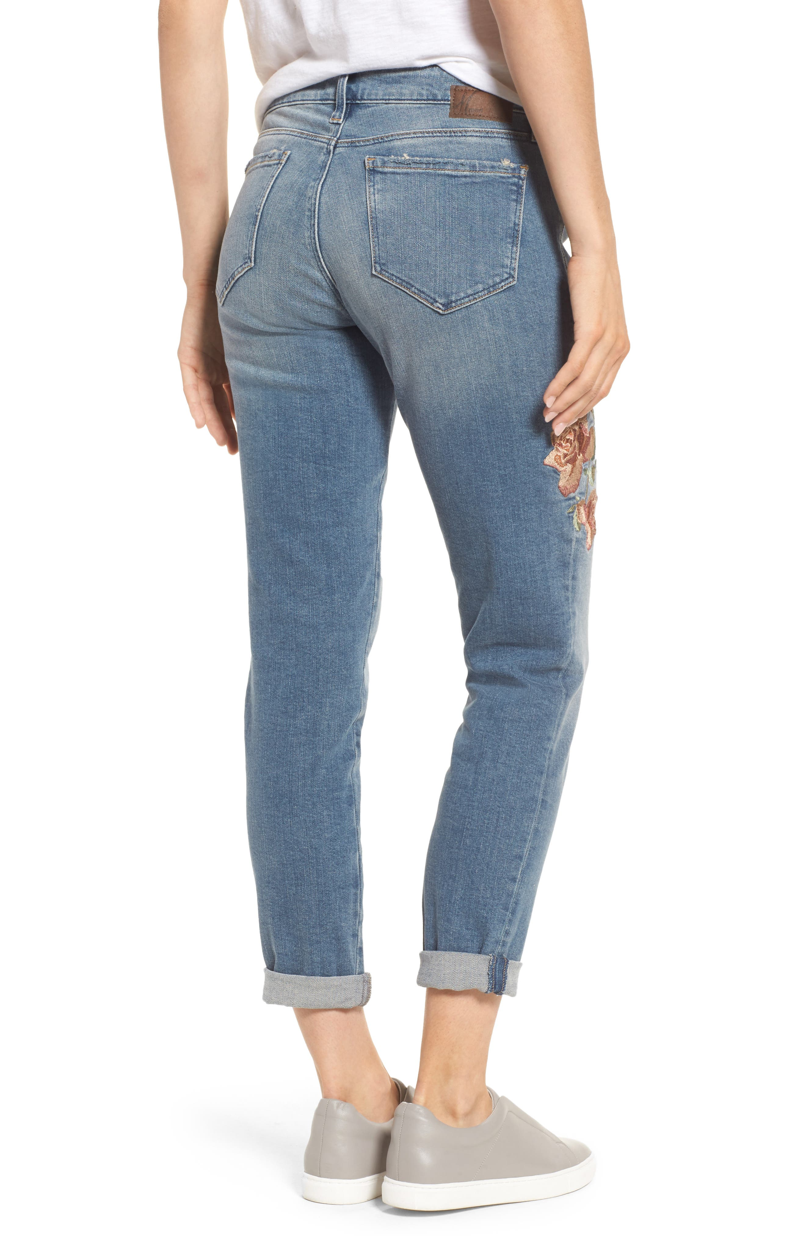 Ada Embroidered Boyfriend Jeans,                             Alternate thumbnail 2, color,                             420