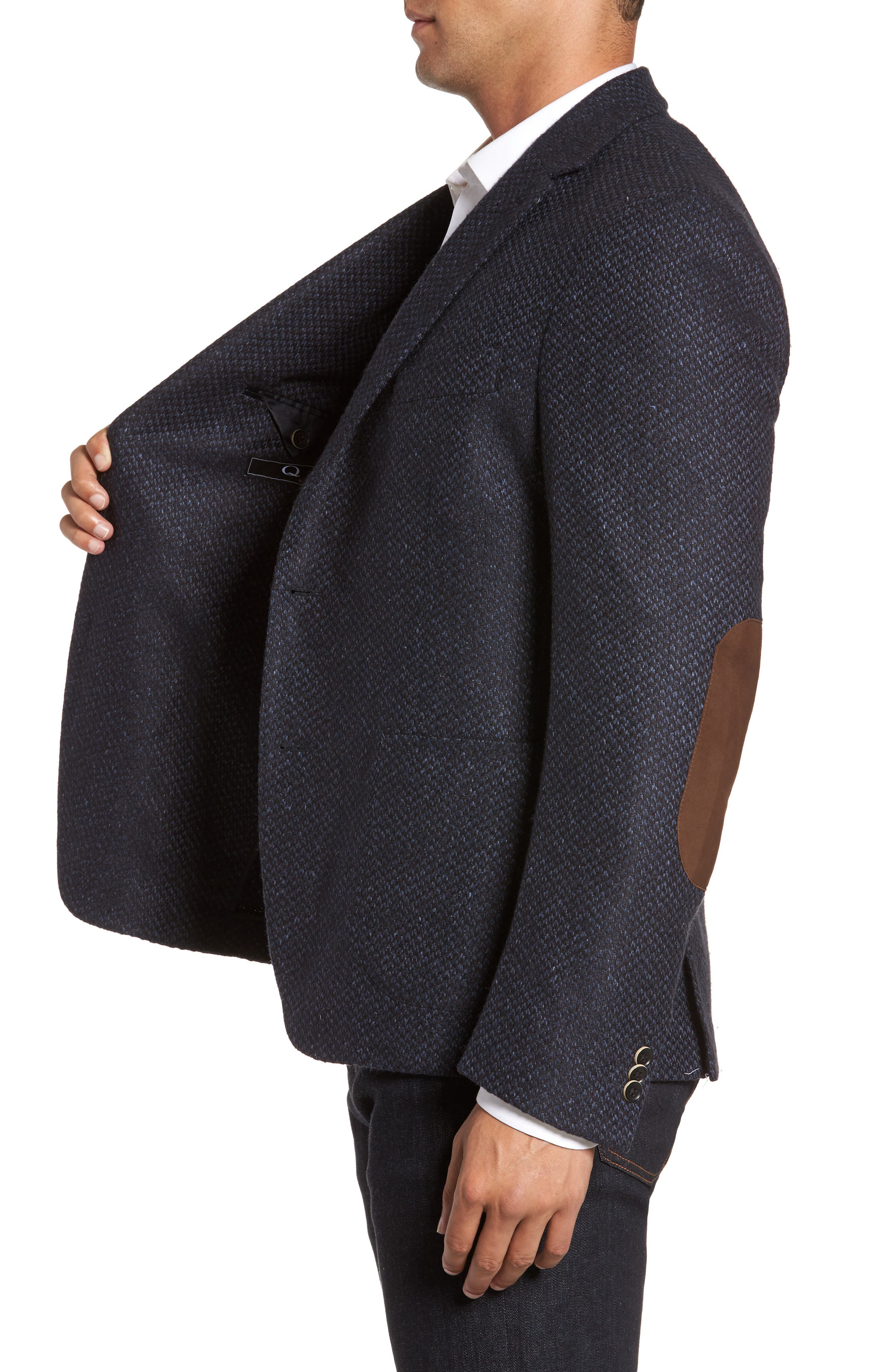 Woven Wool & Silk Blend Sport Coat,                             Alternate thumbnail 3, color,