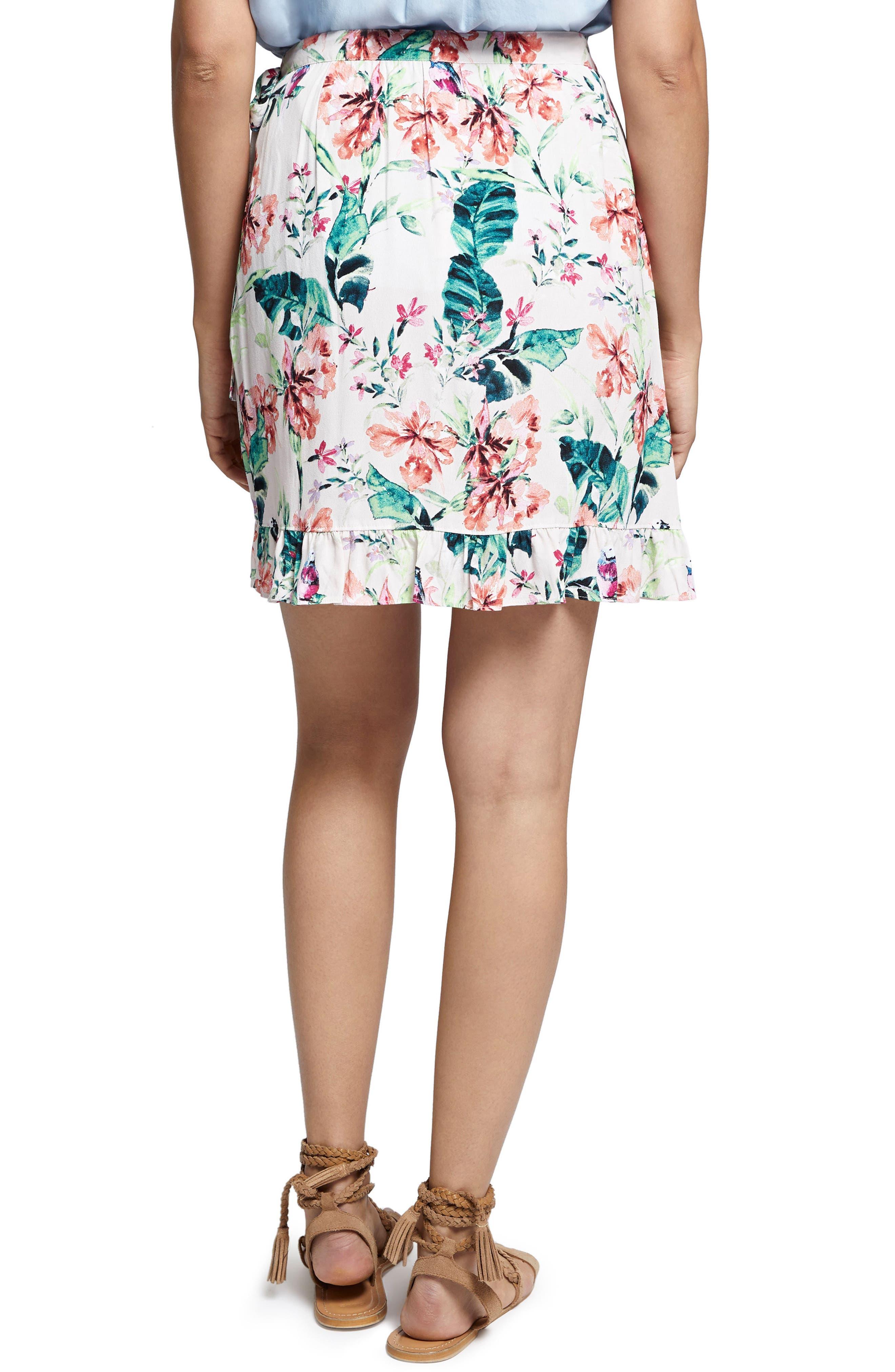 Tropicana Side Tie Ruffle Skirt,                             Alternate thumbnail 2, color,