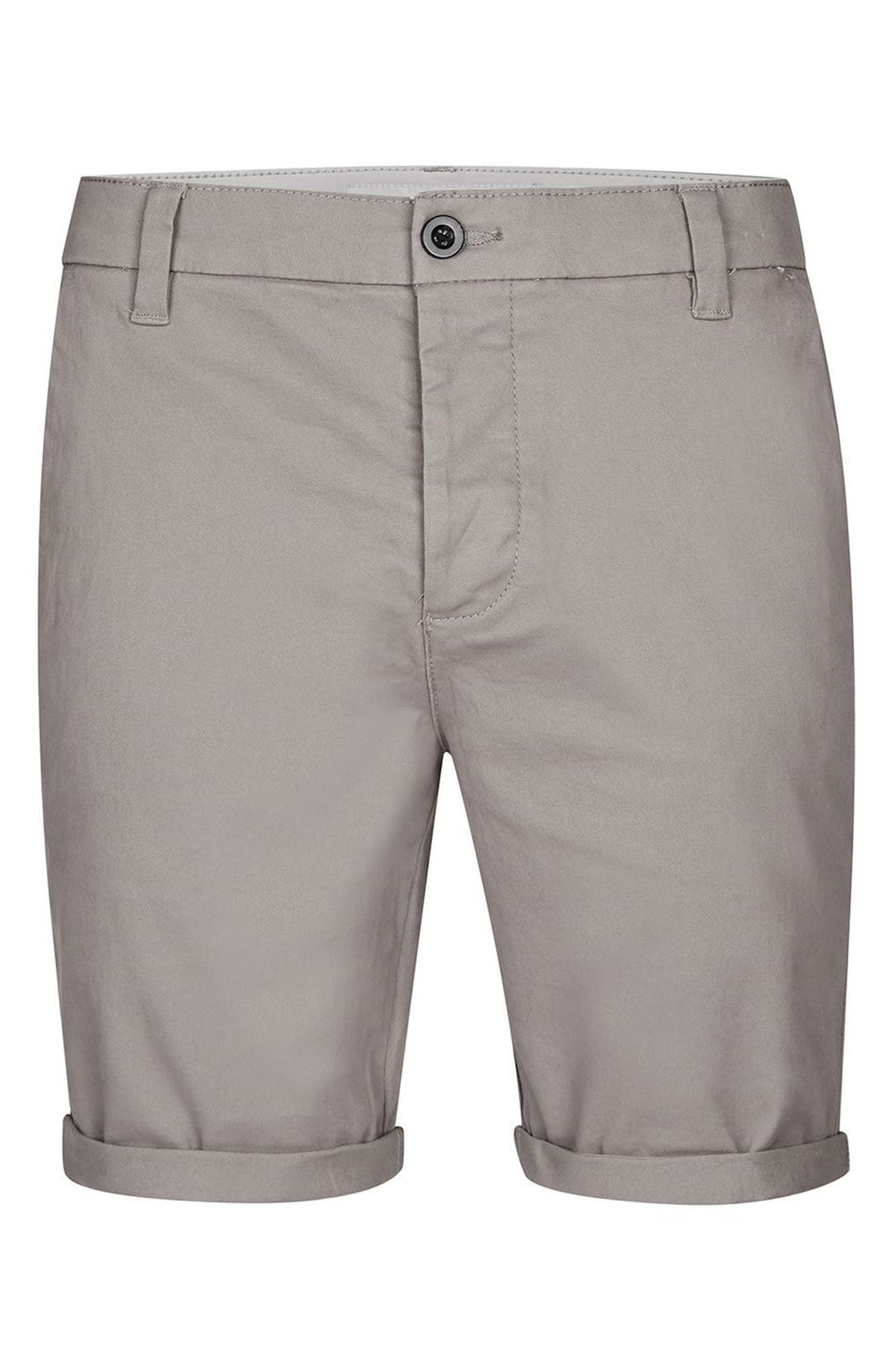 Stretch Skinny Fit Chino Shorts,                             Alternate thumbnail 4, color,                             030