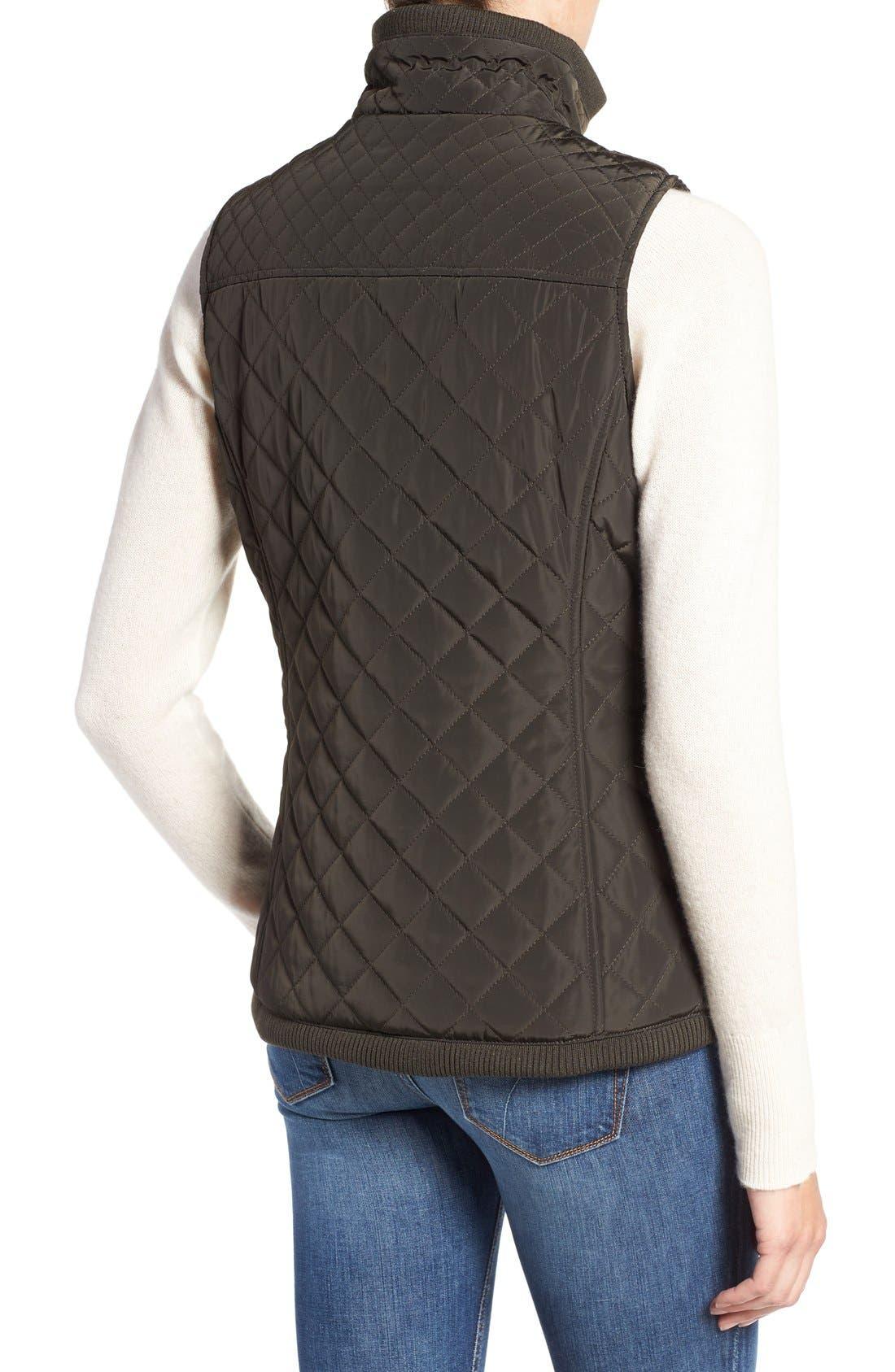 Diamond Quilted Vest,                             Alternate thumbnail 13, color,