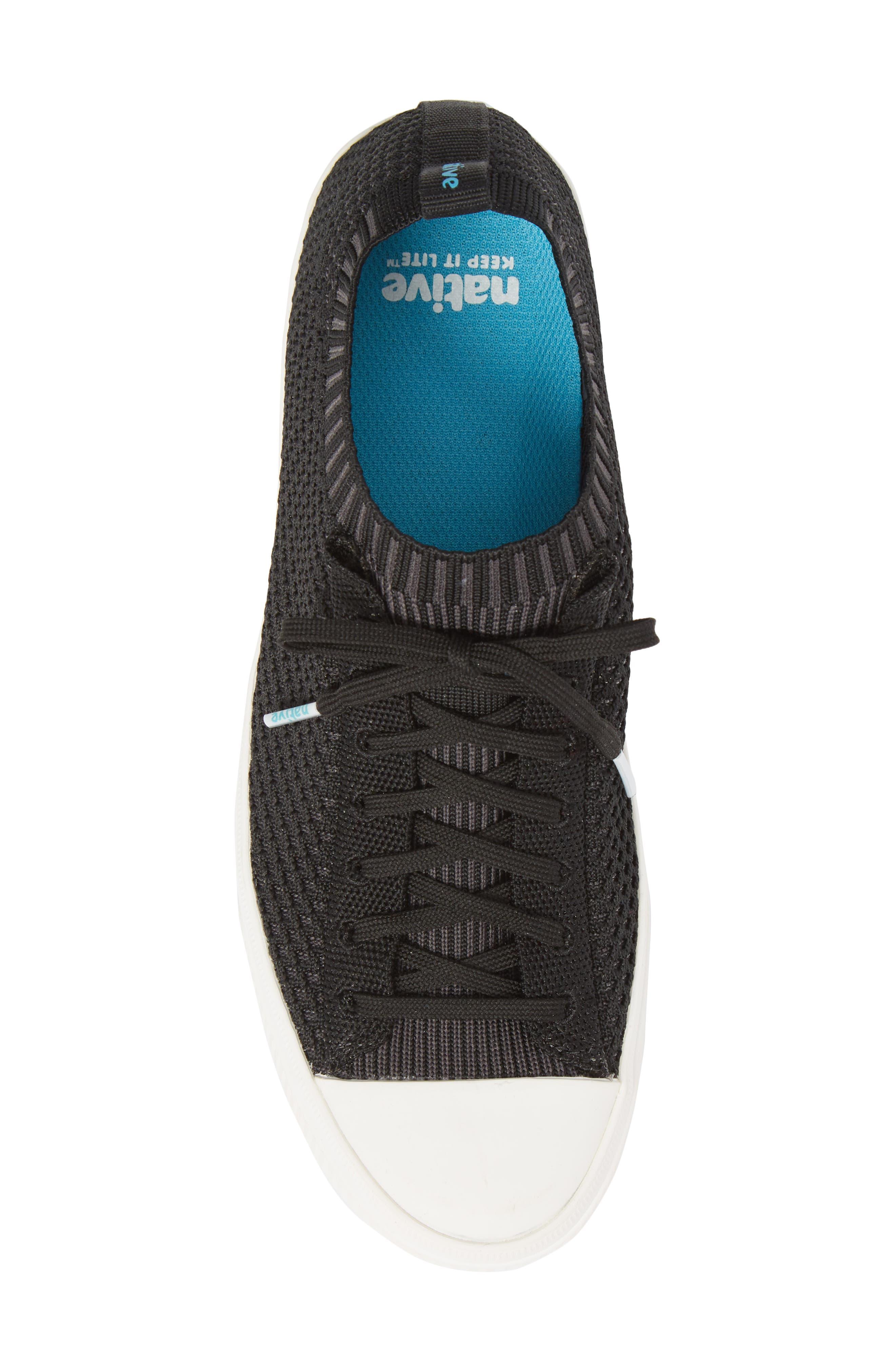 Jefferson 2.0 Liteknit Lace-Up Sneaker,                             Alternate thumbnail 5, color,                             JIFFY BLACK/ SHELL WHITE