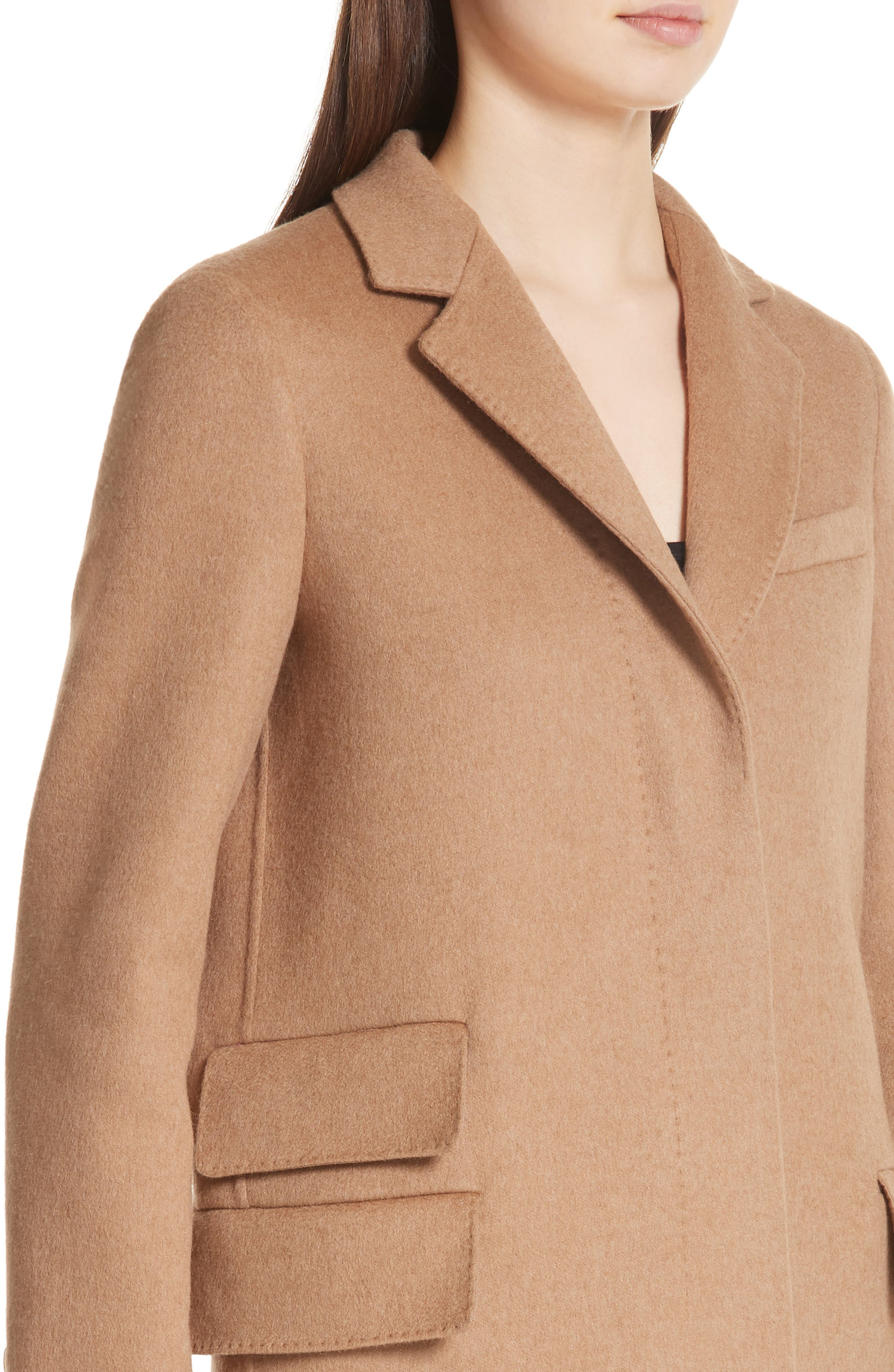 Aureo Camel Hair Coat,                             Alternate thumbnail 4, color,                             232