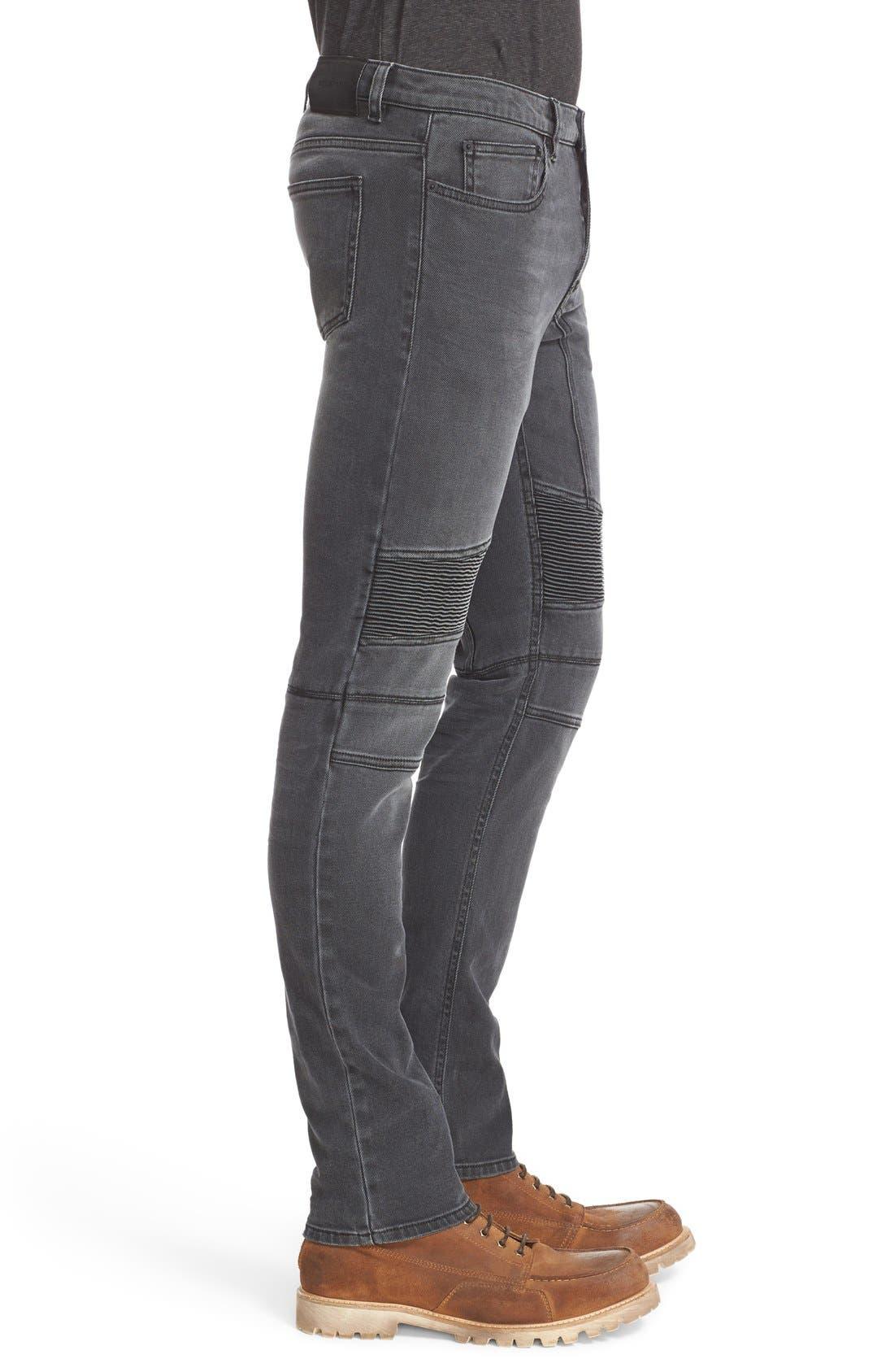 Eastham Slim Fit Stretch Denim Moto Jeans,                             Alternate thumbnail 5, color,                             022
