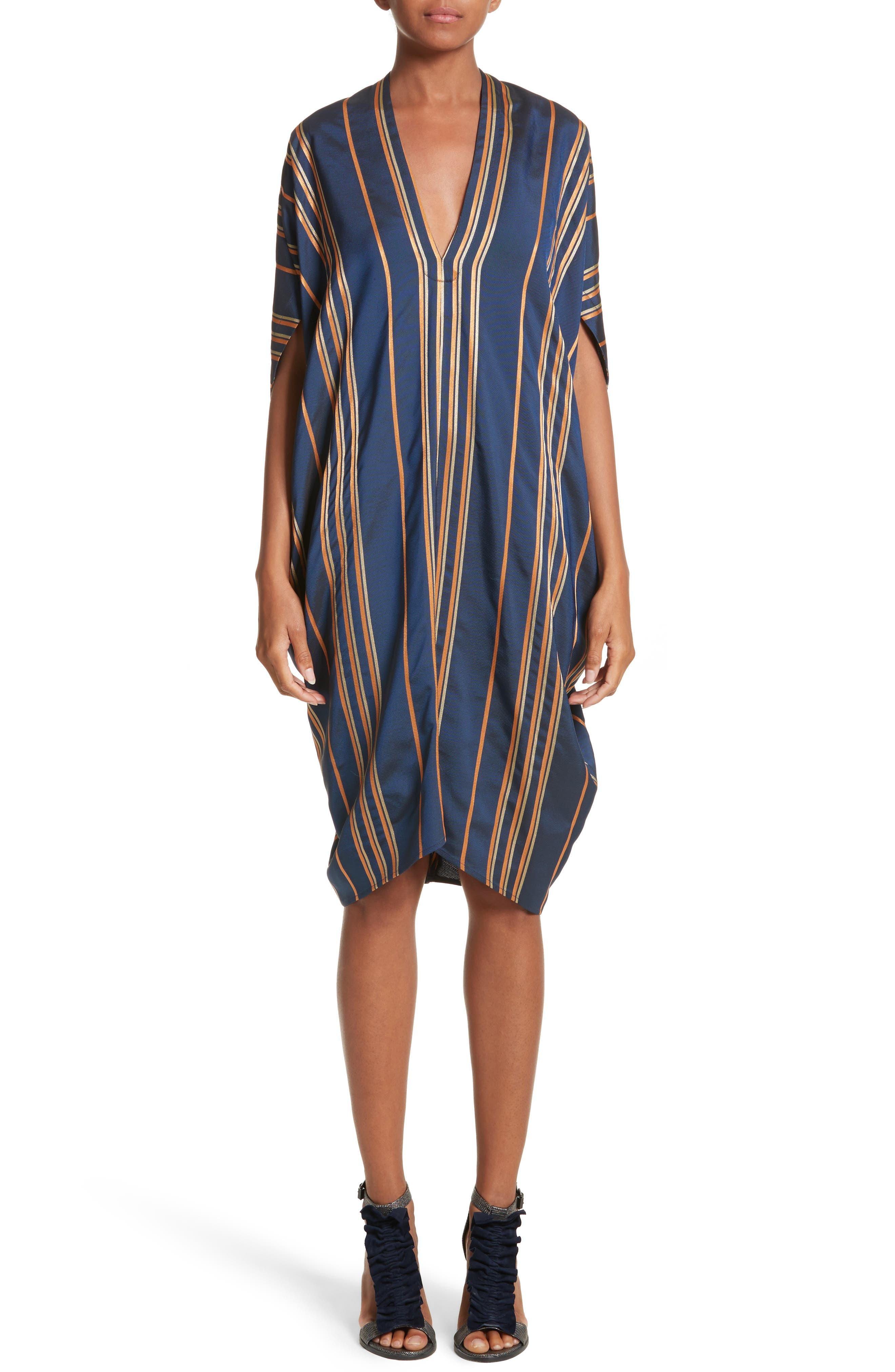 Stripe Dress,                             Main thumbnail 1, color,                             460