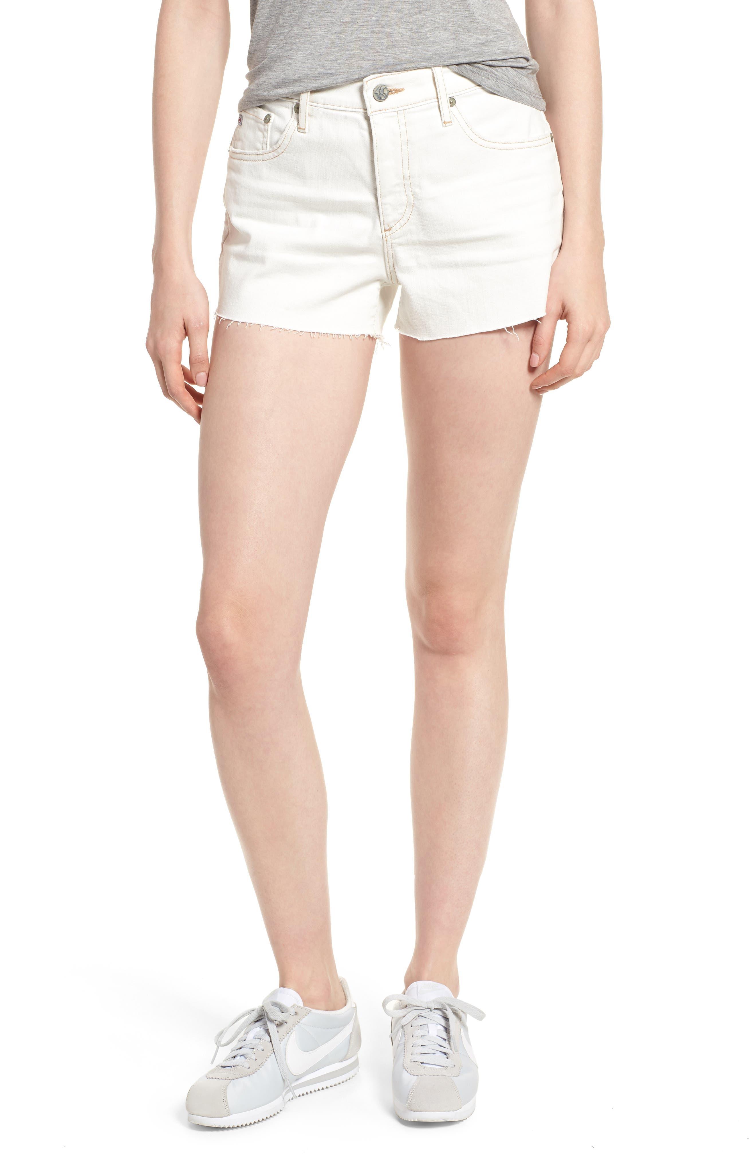 The Bryn High Waist Cutoff Denim Shorts,                         Main,                         color, 109