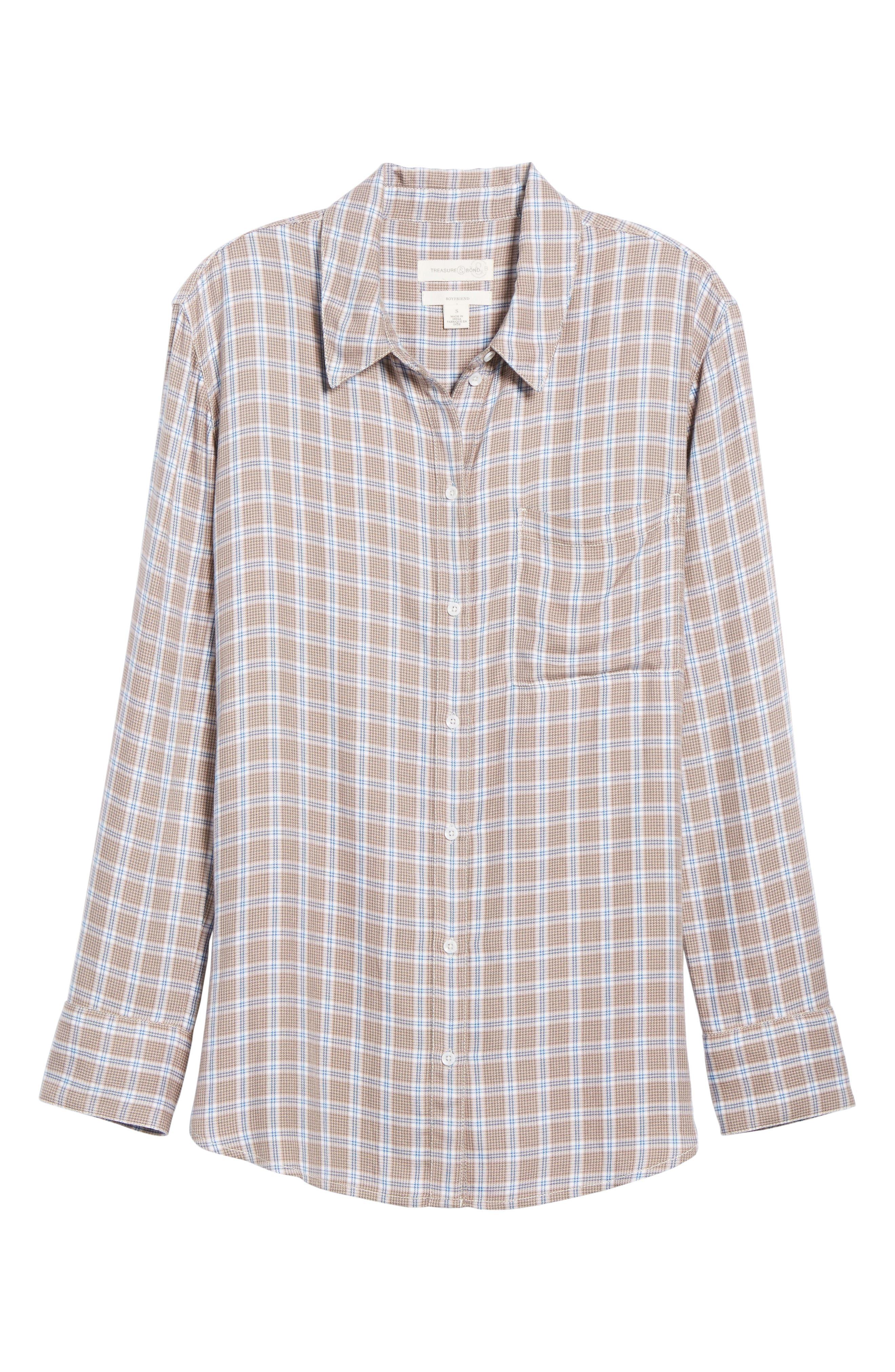 Plaid Boyfriend Shirt,                             Alternate thumbnail 30, color,