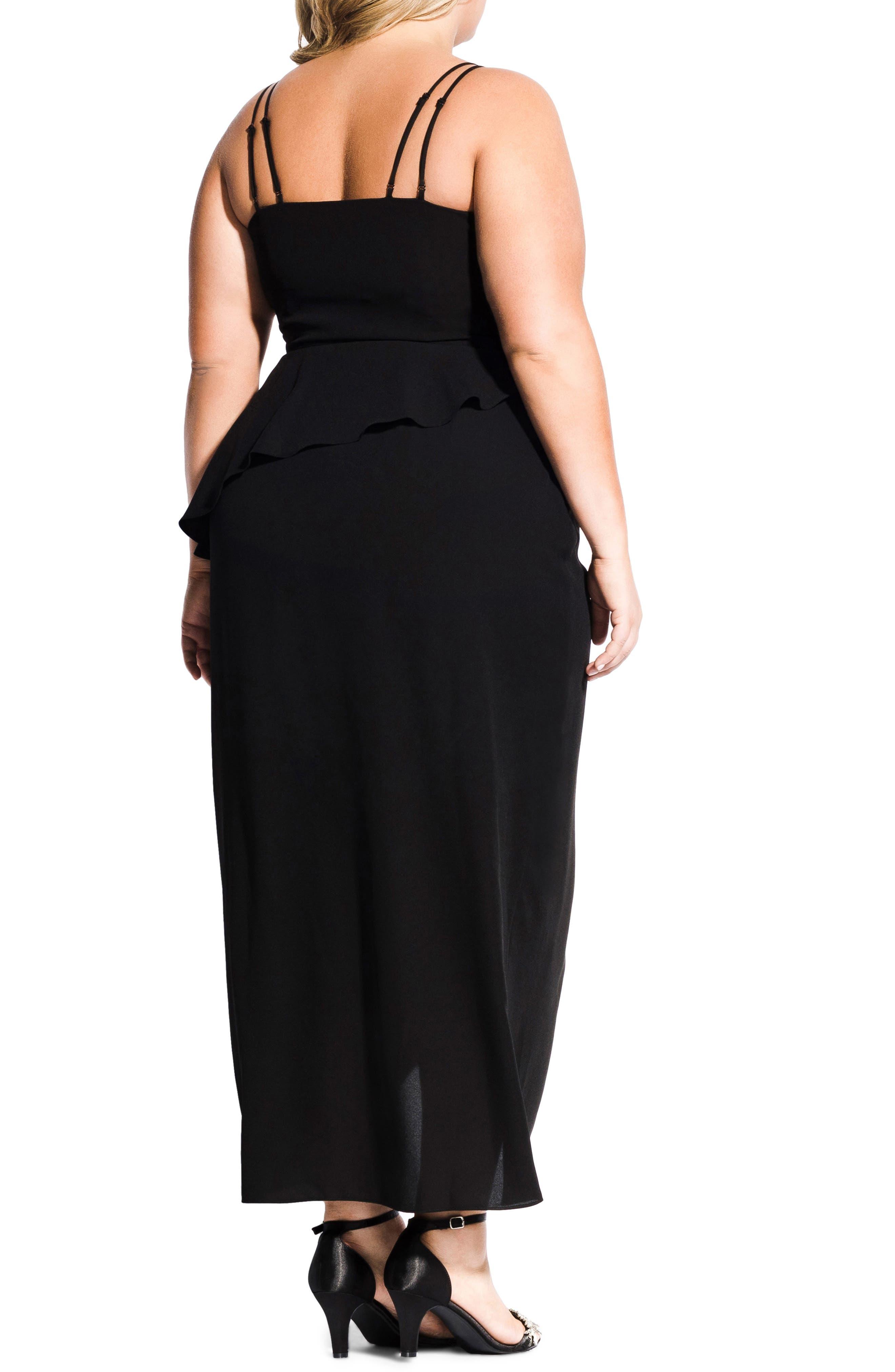 Romance Maxi Dress,                             Alternate thumbnail 2, color,                             BLACK