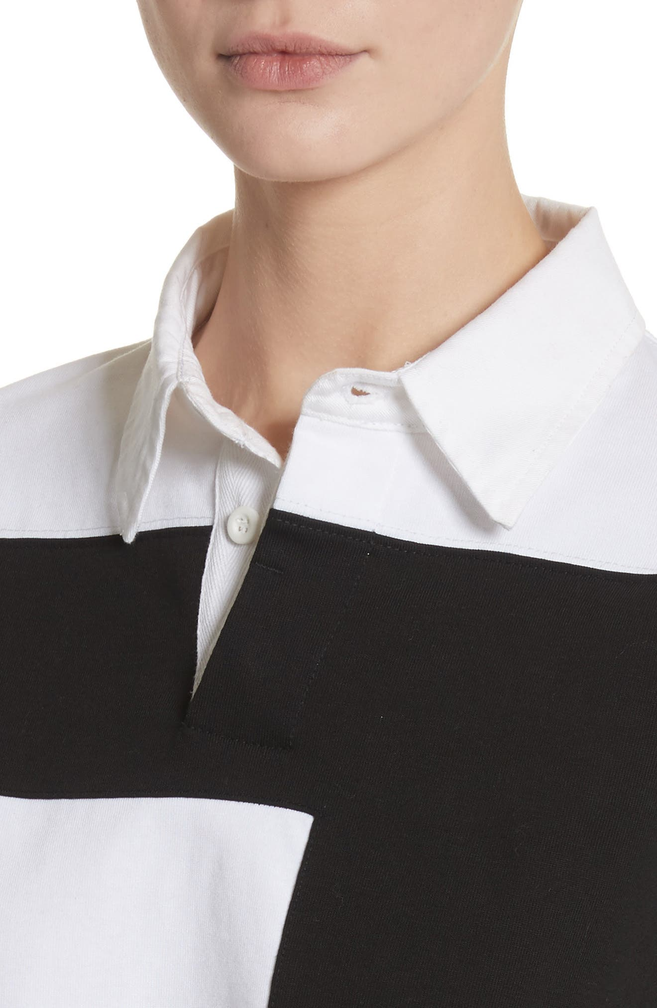 PSWL Cotton Rugby Top,                             Alternate thumbnail 4, color,                             001