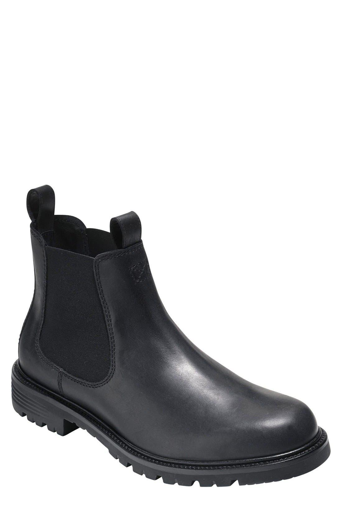 COLE HAAN 'Grantland' Chelsea Boot, Main, color, 001