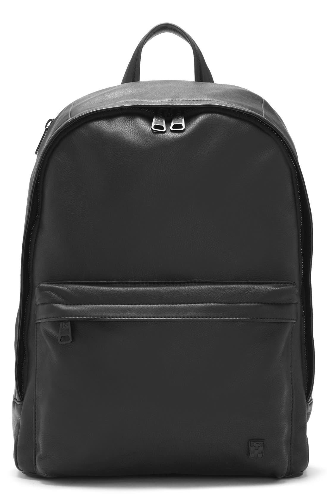 'Tolve' Leather Backpack,                             Main thumbnail 1, color,                             001