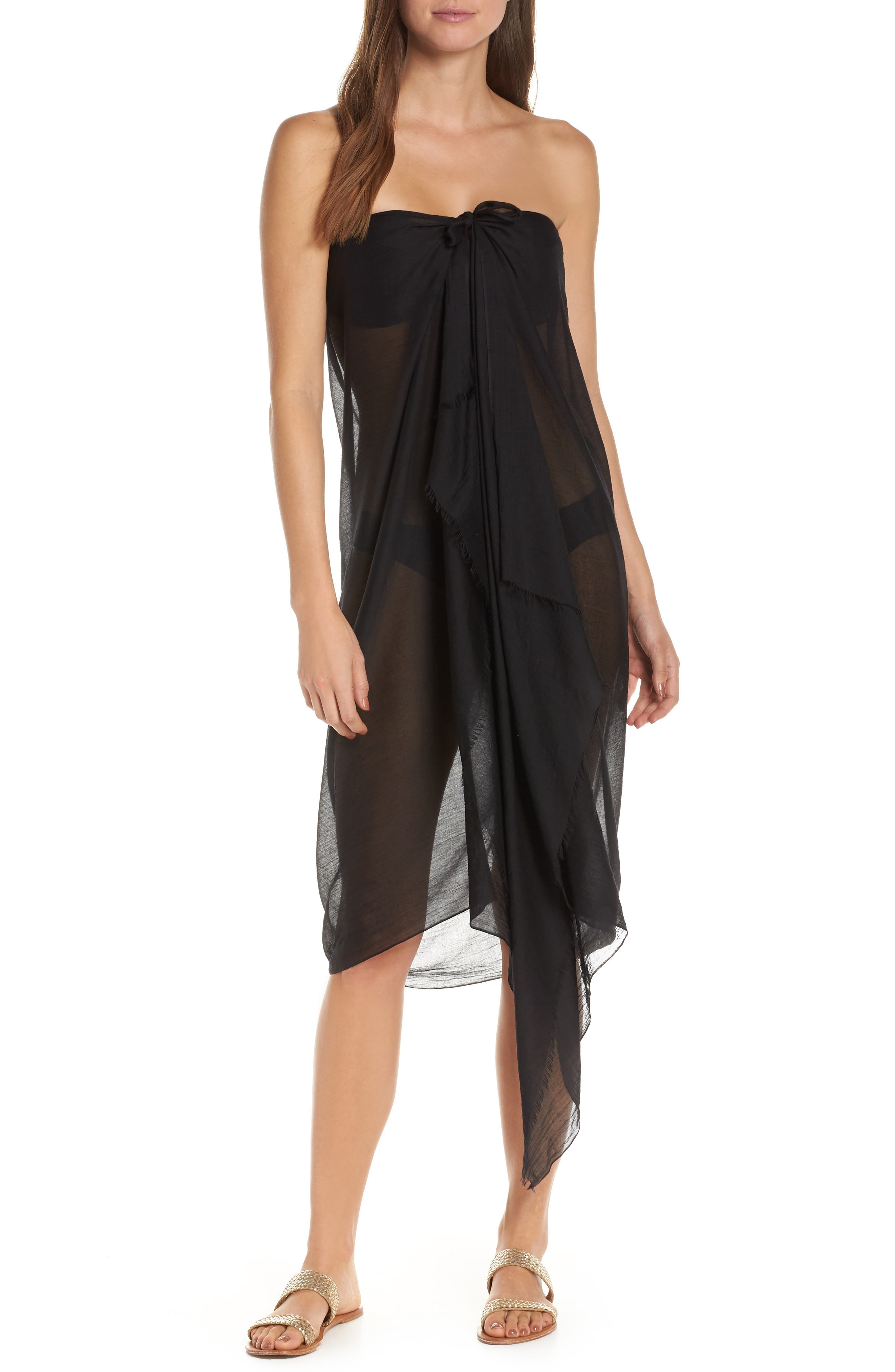 POOL TO PARTY,                             Sarong Cover-Up,                             Alternate thumbnail 2, color,                             001