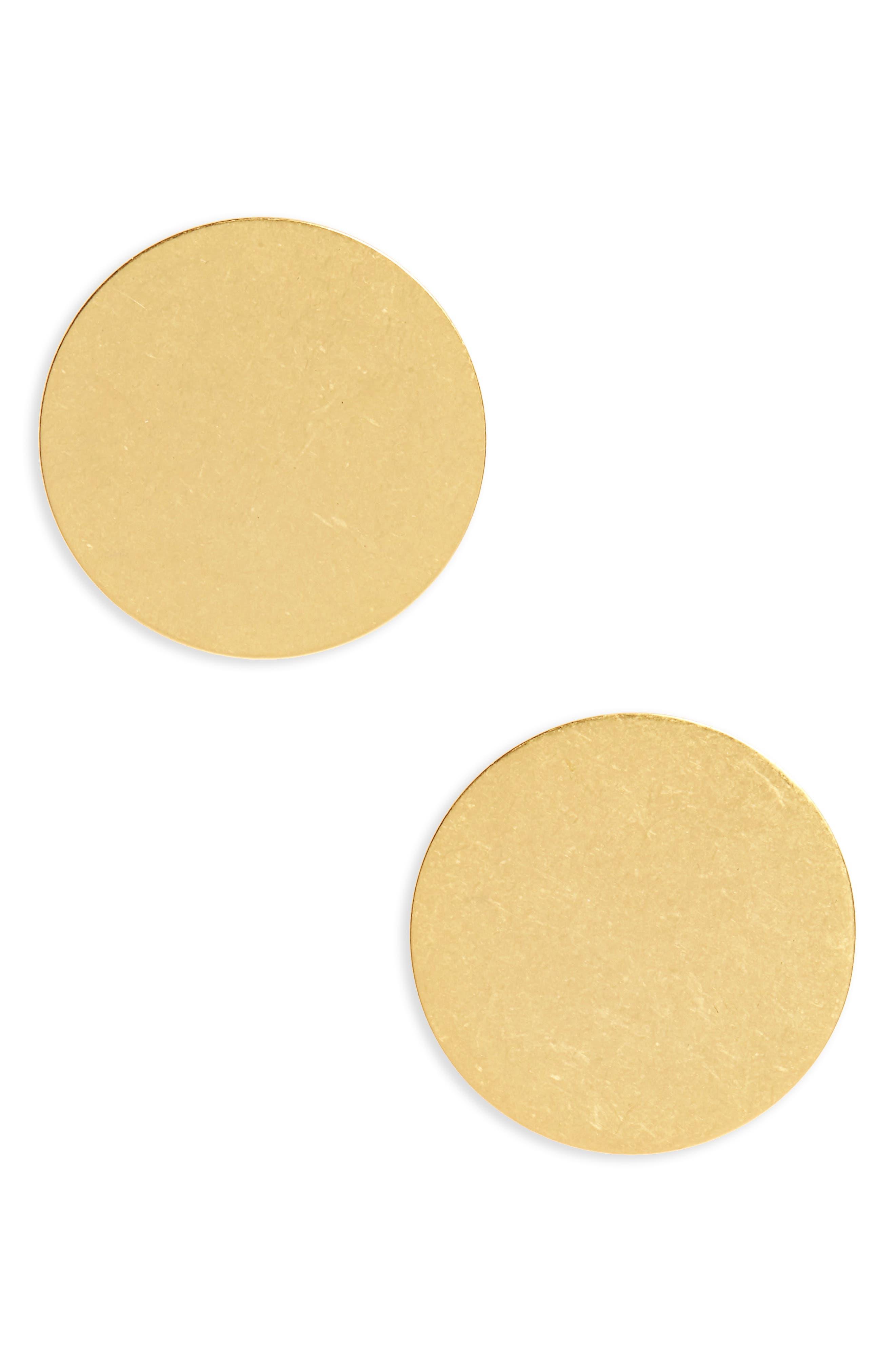 Circle Stud Earrings,                             Main thumbnail 1, color,                             710