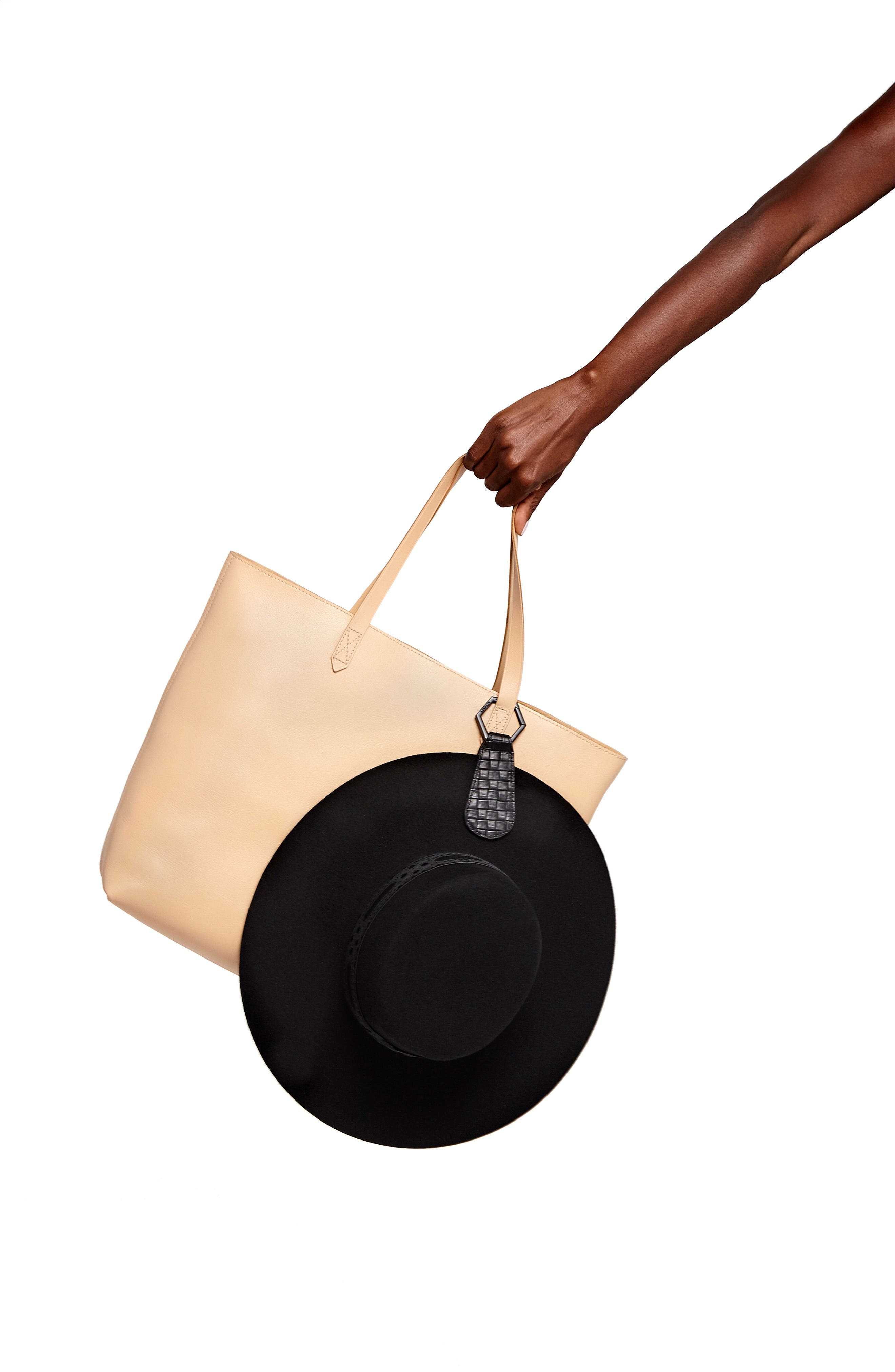 The Drop Leather Hat Clip, Main, color, 001