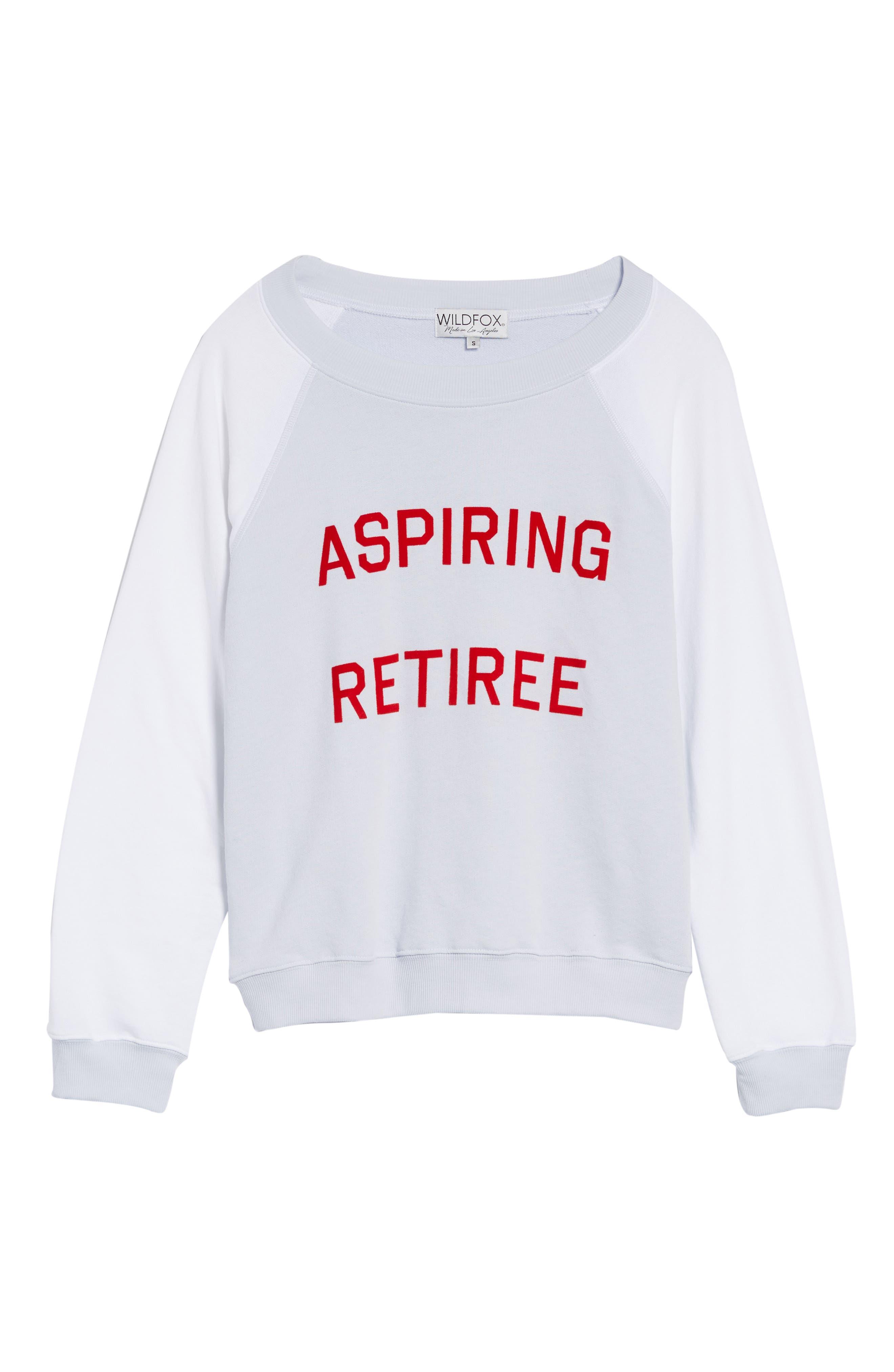 Aspiring Retiree Sweatshirt,                             Alternate thumbnail 6, color,