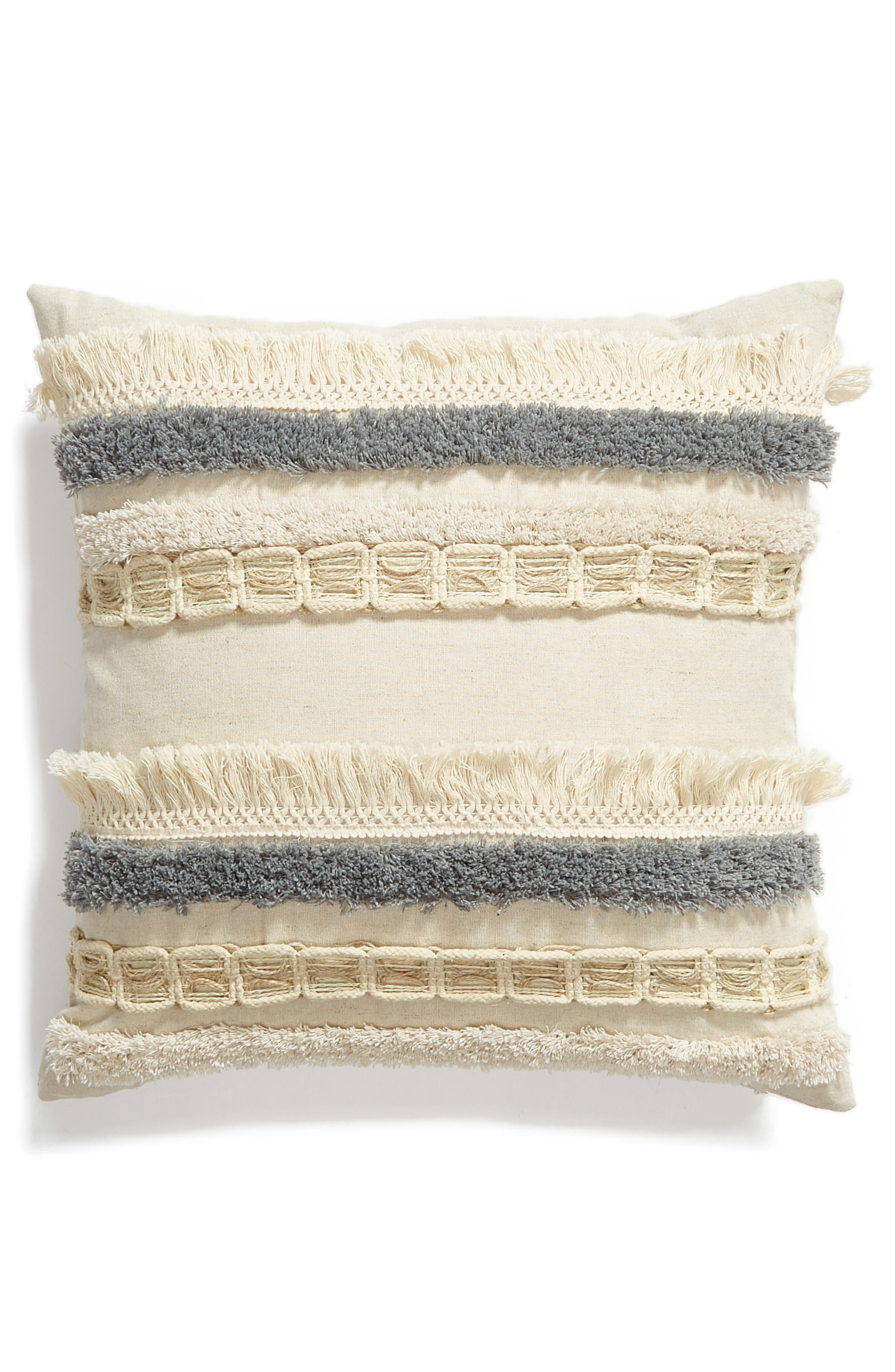 LEVTEX Hilo Fringe Accent Pillow, Main, color, NATURAL
