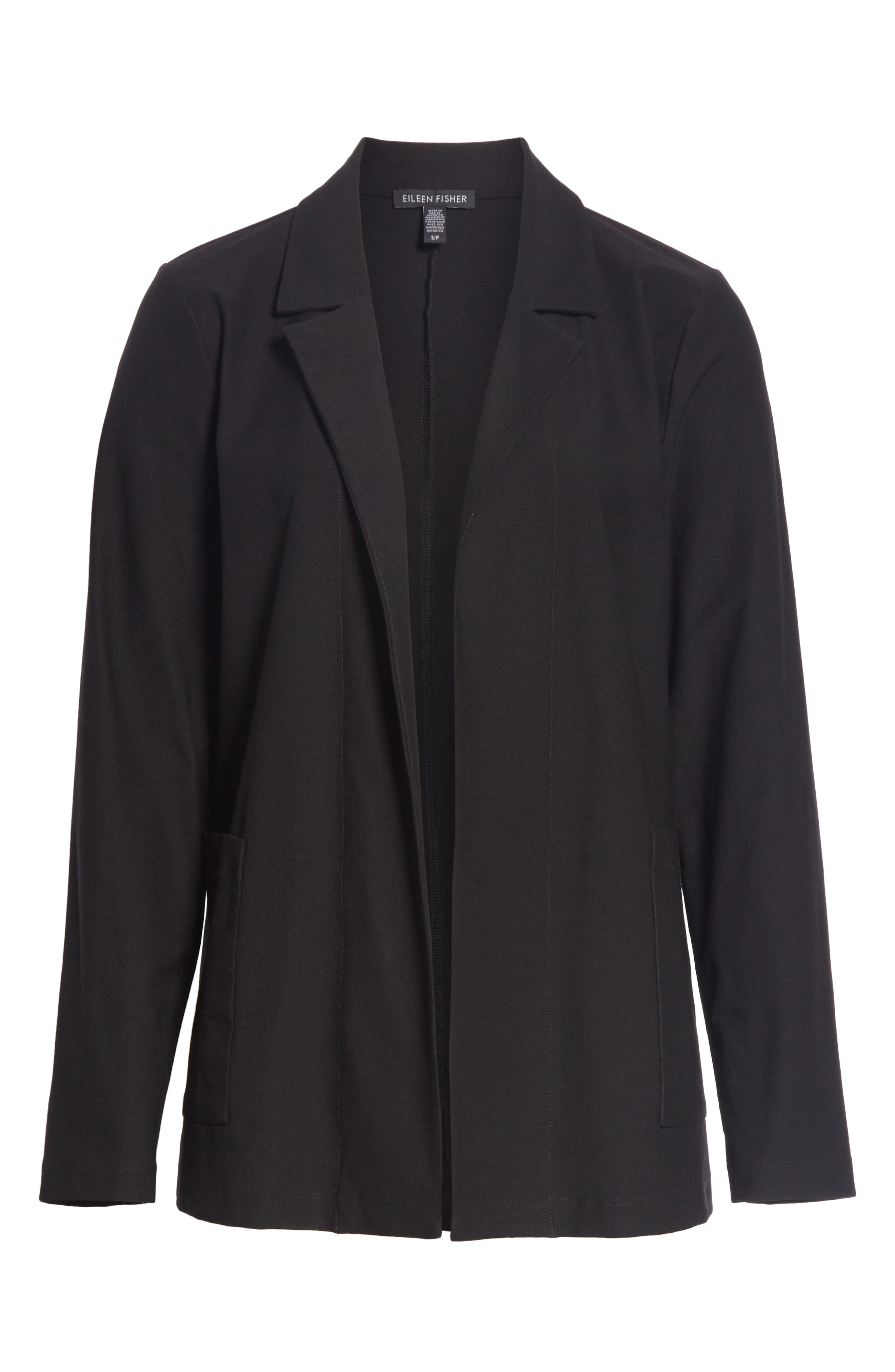 Classic Notch Collar Jacket,                             Alternate thumbnail 5, color,                             BLACK
