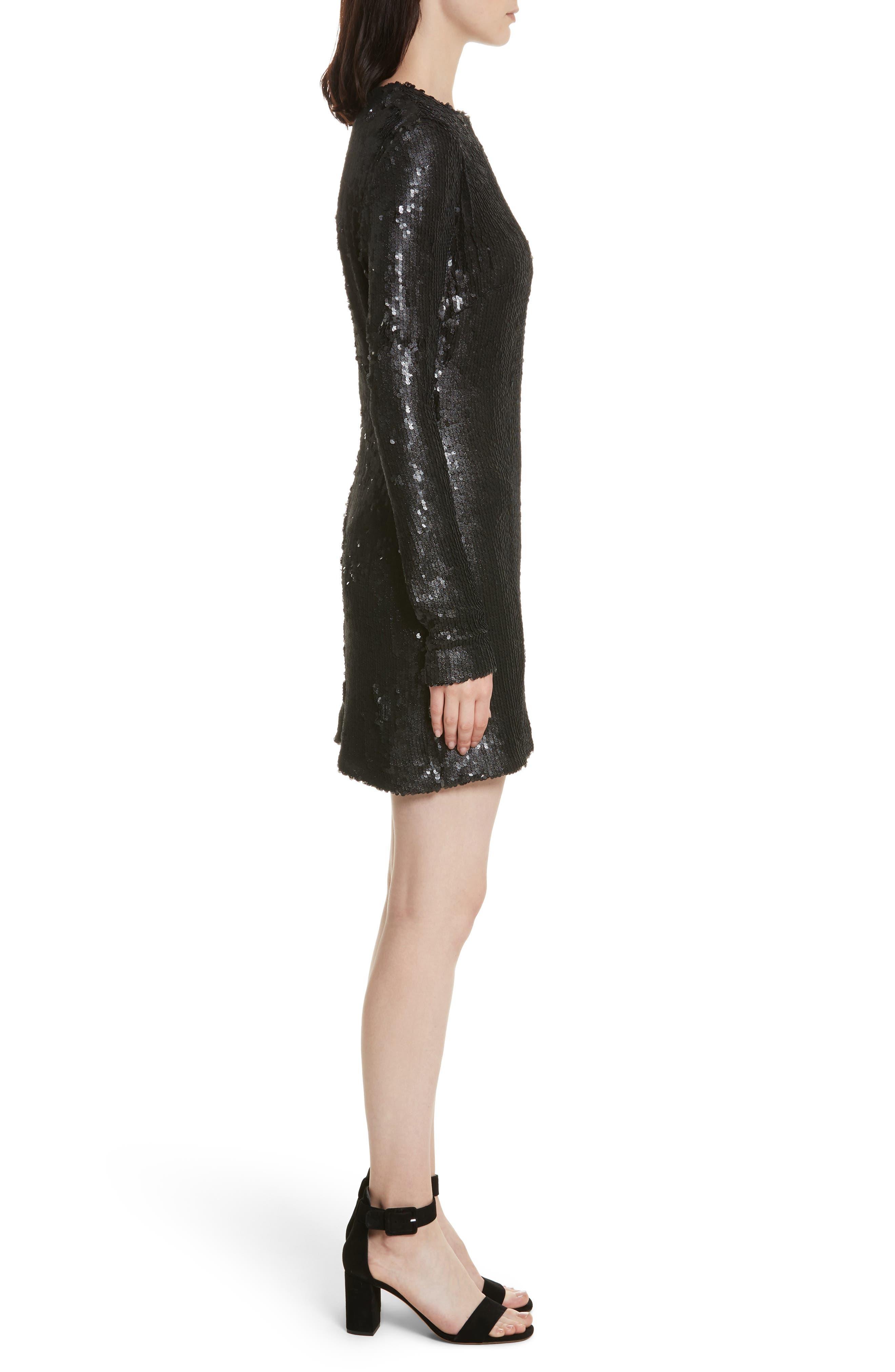 Nevin Sequin Minidress,                             Alternate thumbnail 3, color,                             001