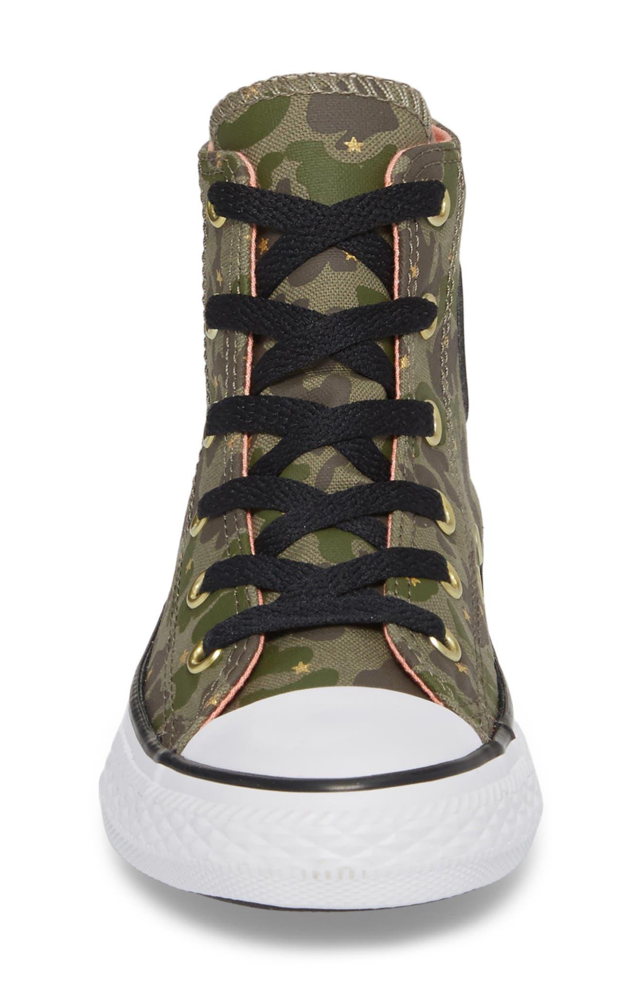 Camo High Top Sneaker,                             Alternate thumbnail 4, color,
