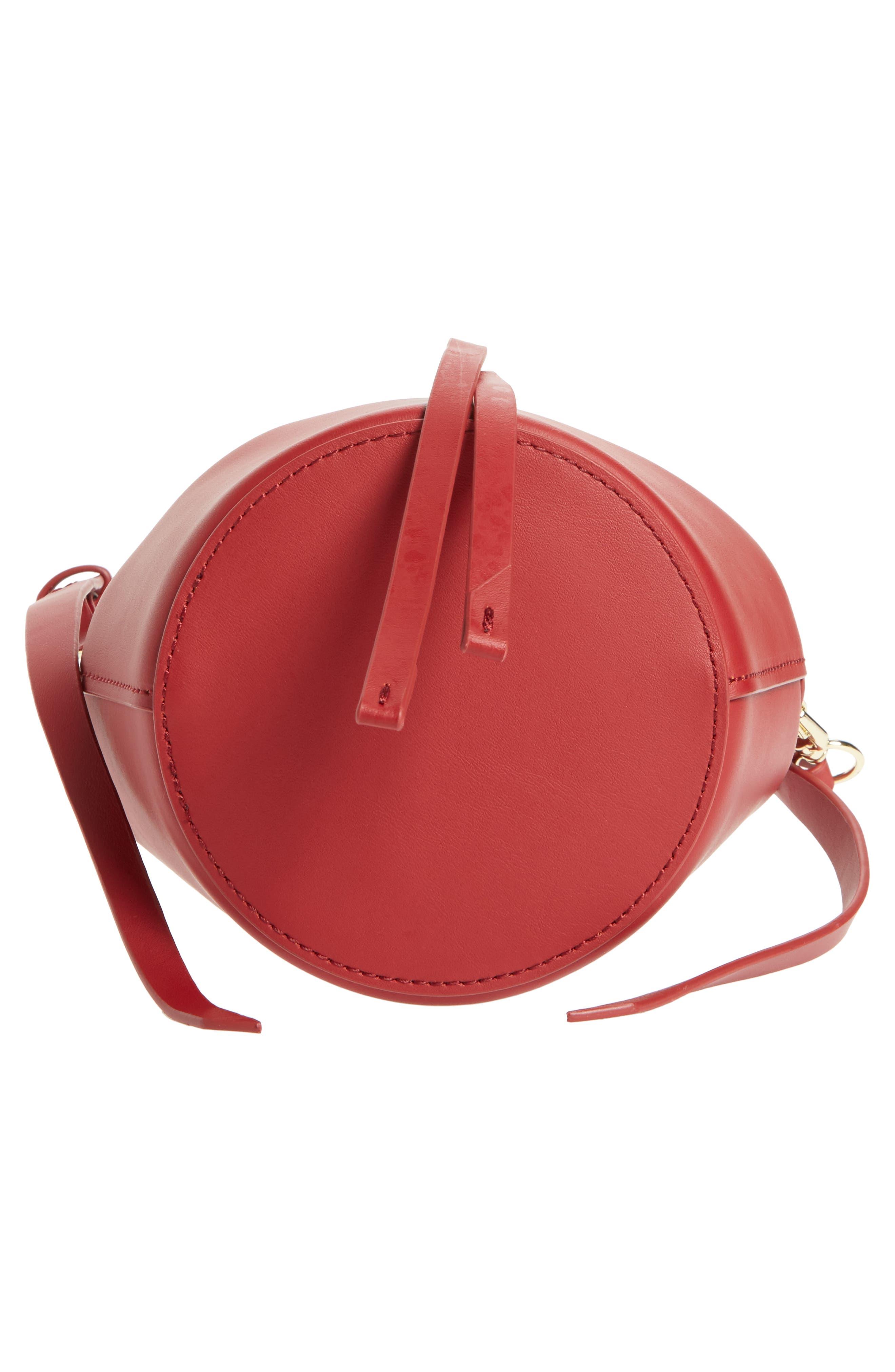 Mini Belay Calfskin Leather Drawstring Bag,                             Alternate thumbnail 18, color,