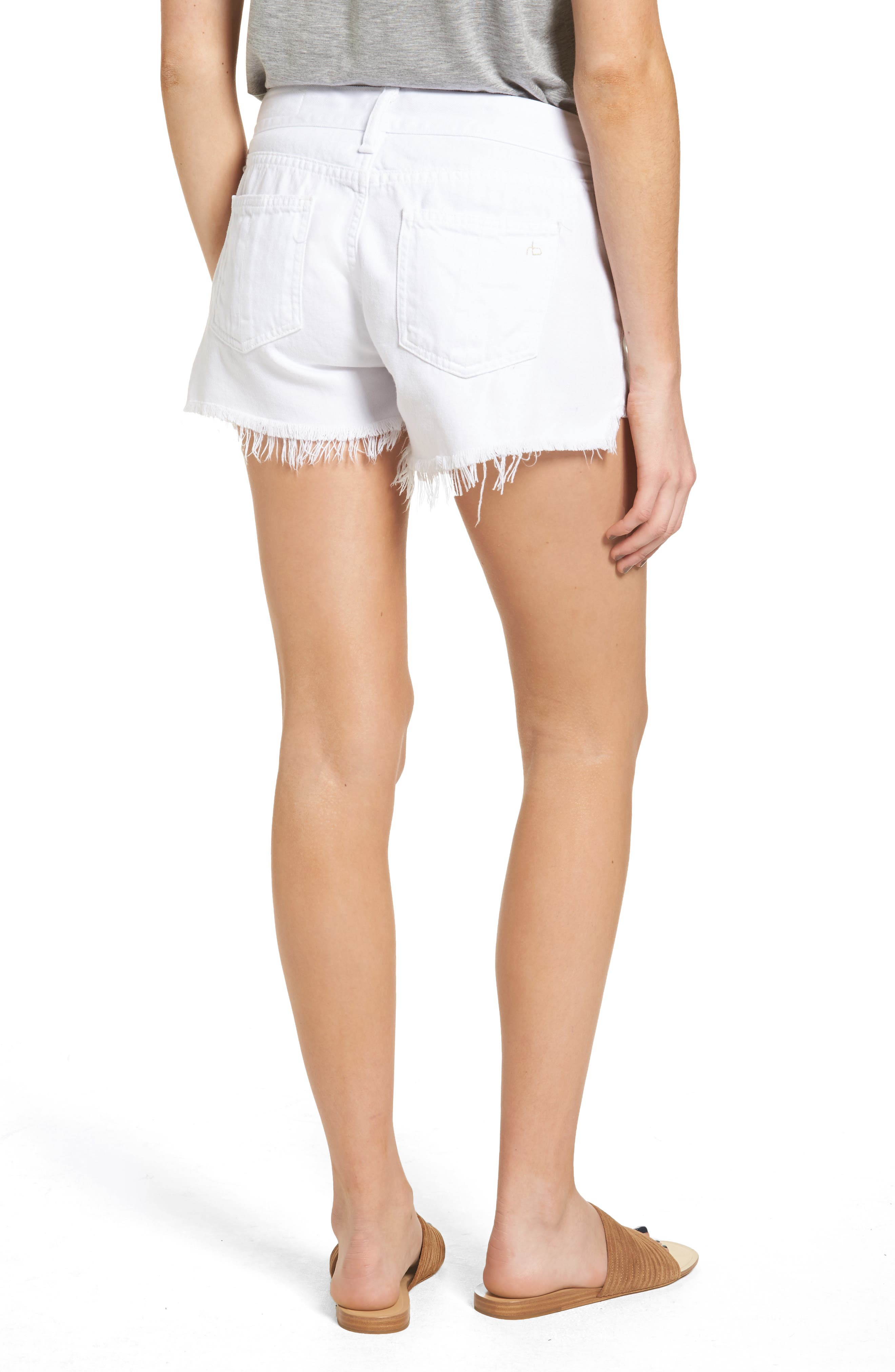 Ripped Cutoff Denim Shorts,                             Alternate thumbnail 2, color,                             126