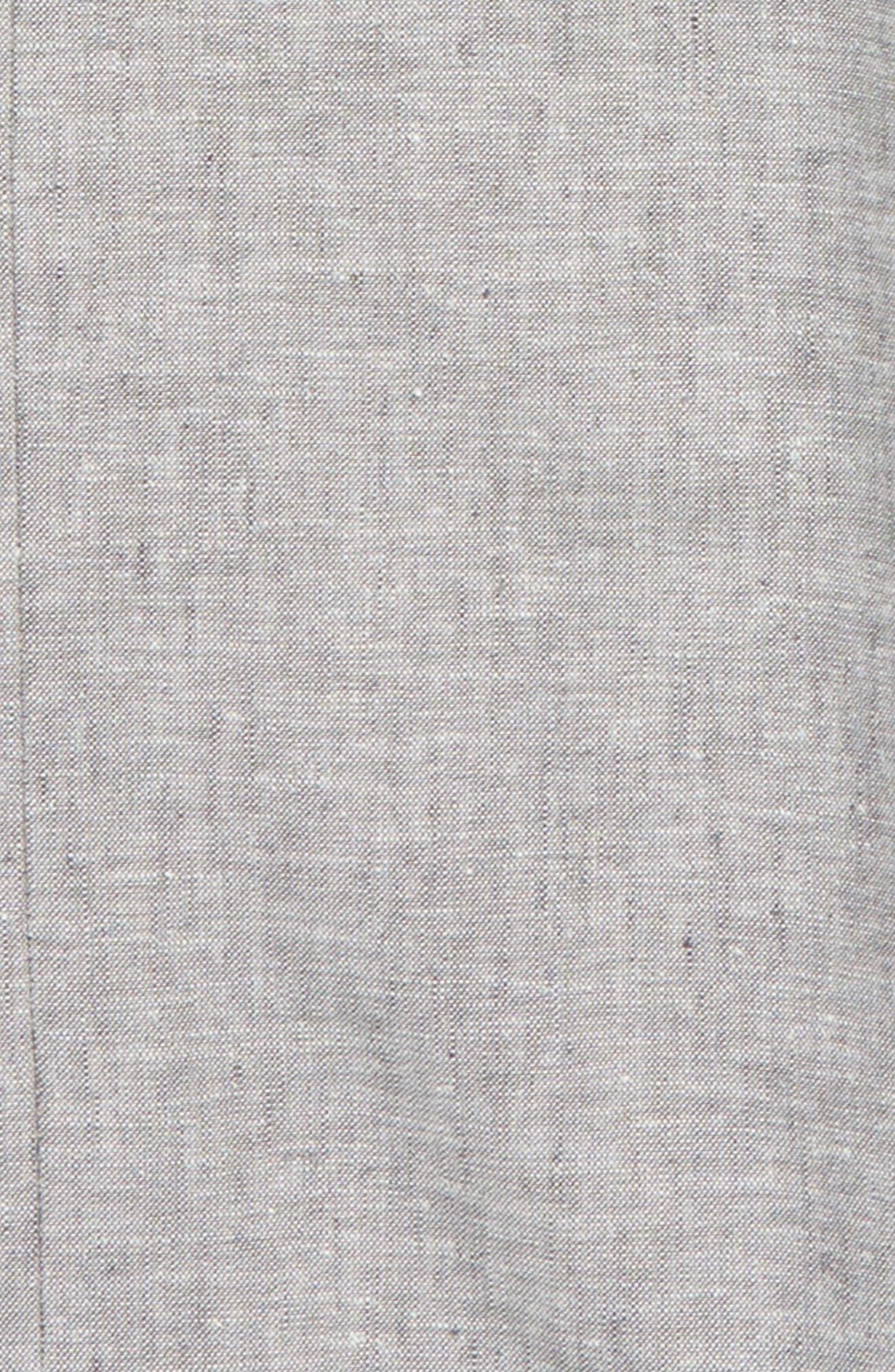Elliott Flat Front Linen & Cotton Trousers,                             Alternate thumbnail 2, color,                             030
