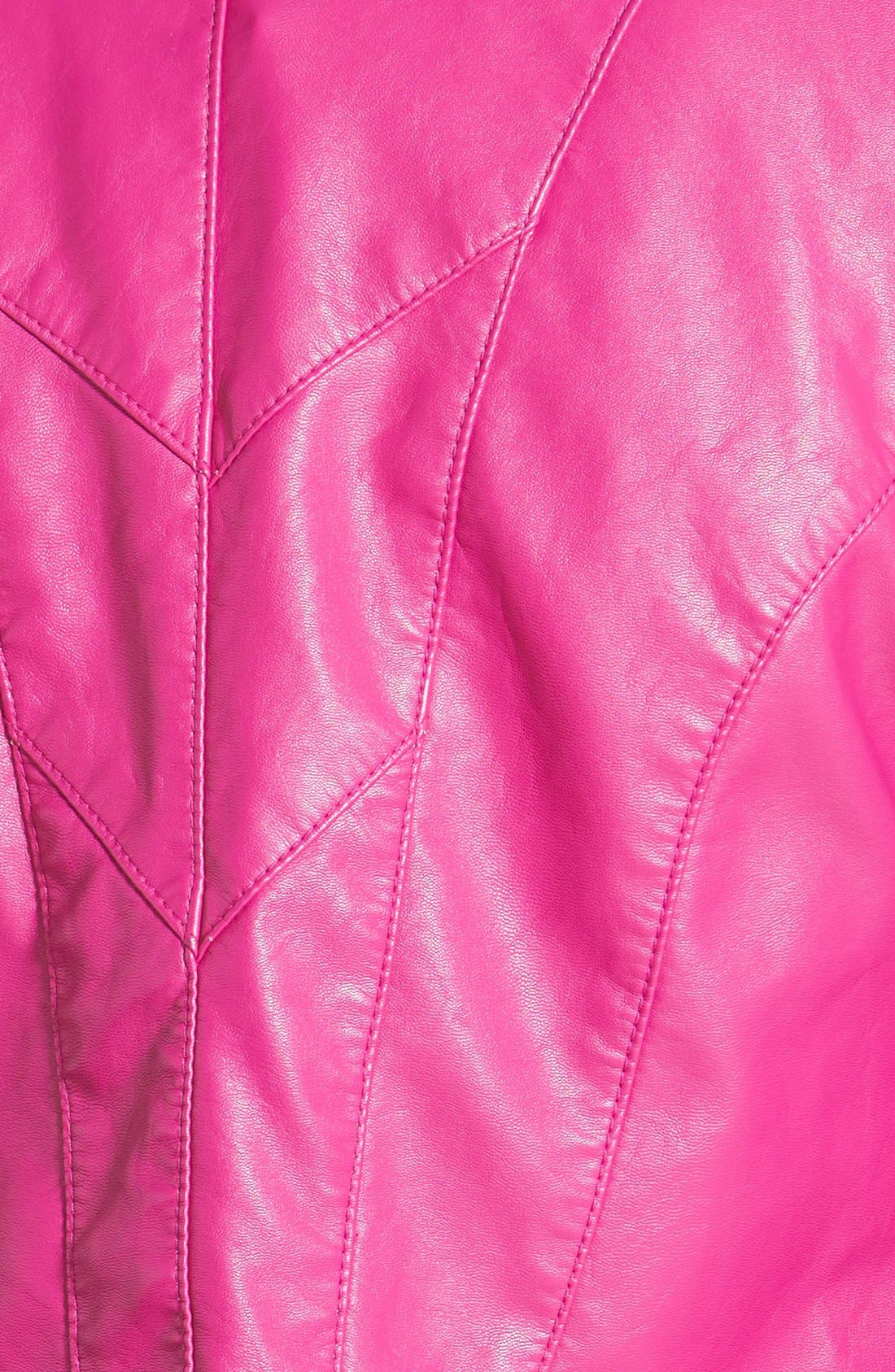 Faux Leather Jacket,                             Alternate thumbnail 34, color,