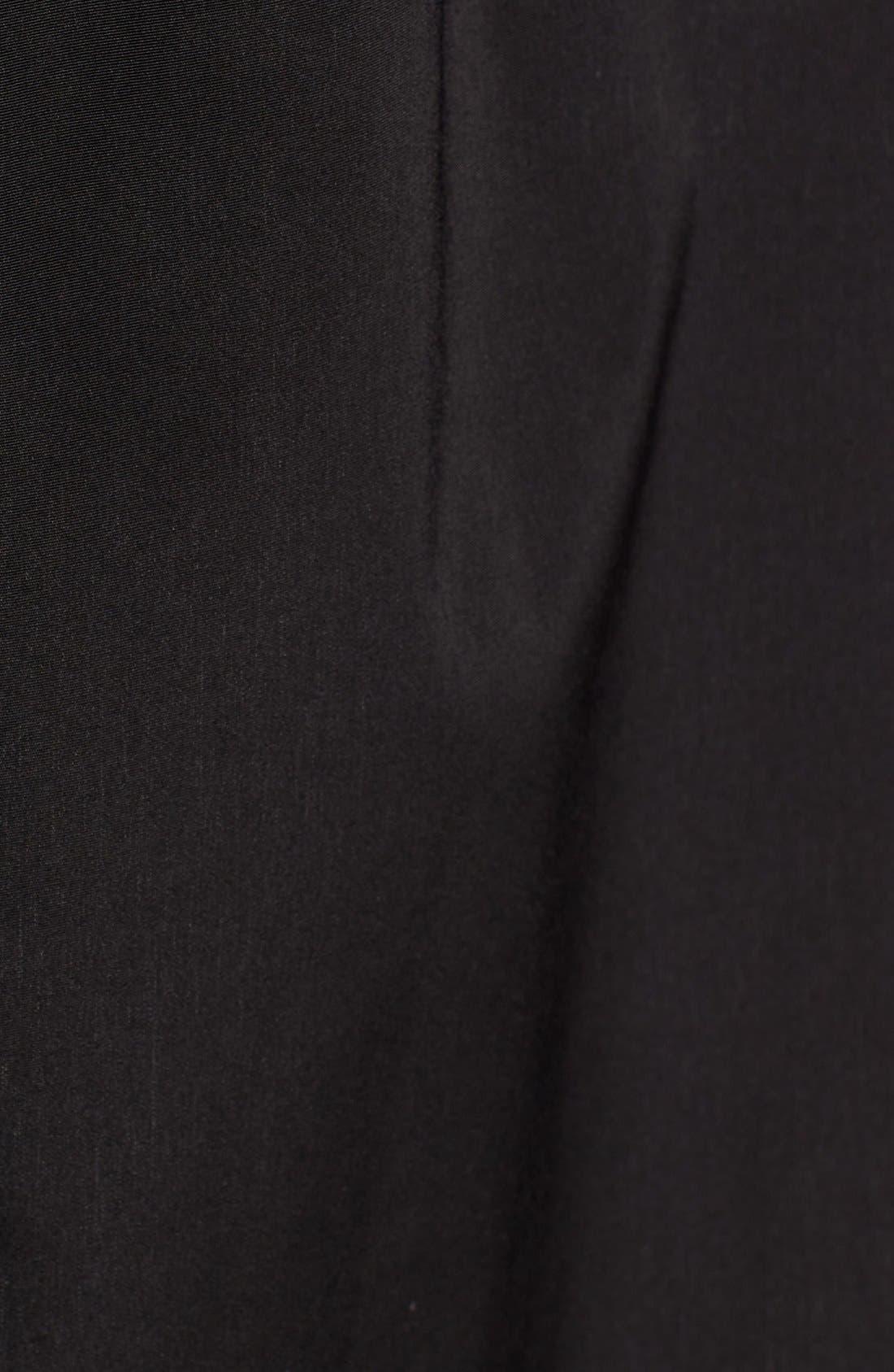 Full Length Two-Tone Silk Look Raincoat,                             Alternate thumbnail 3, color,                             BLACK