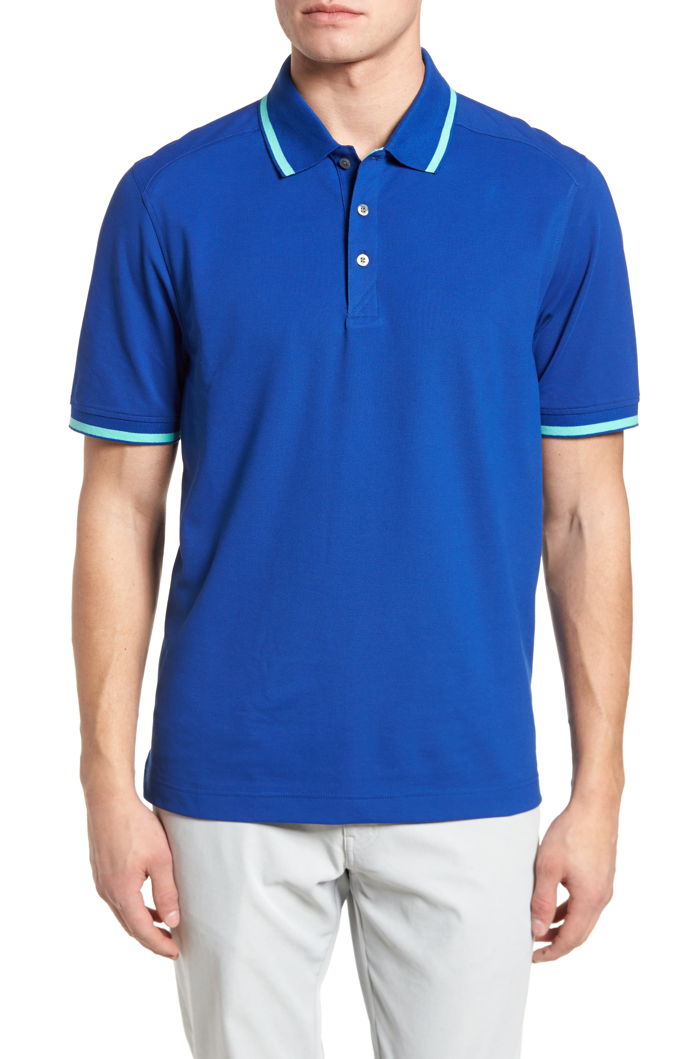 Tipped DryTec Polo,                         Main,                         color, 408
