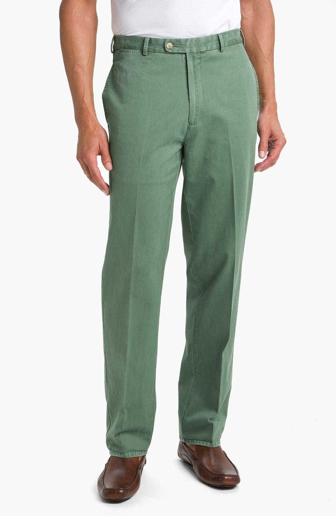 Garment Washed Twill Pants,                             Main thumbnail 8, color,