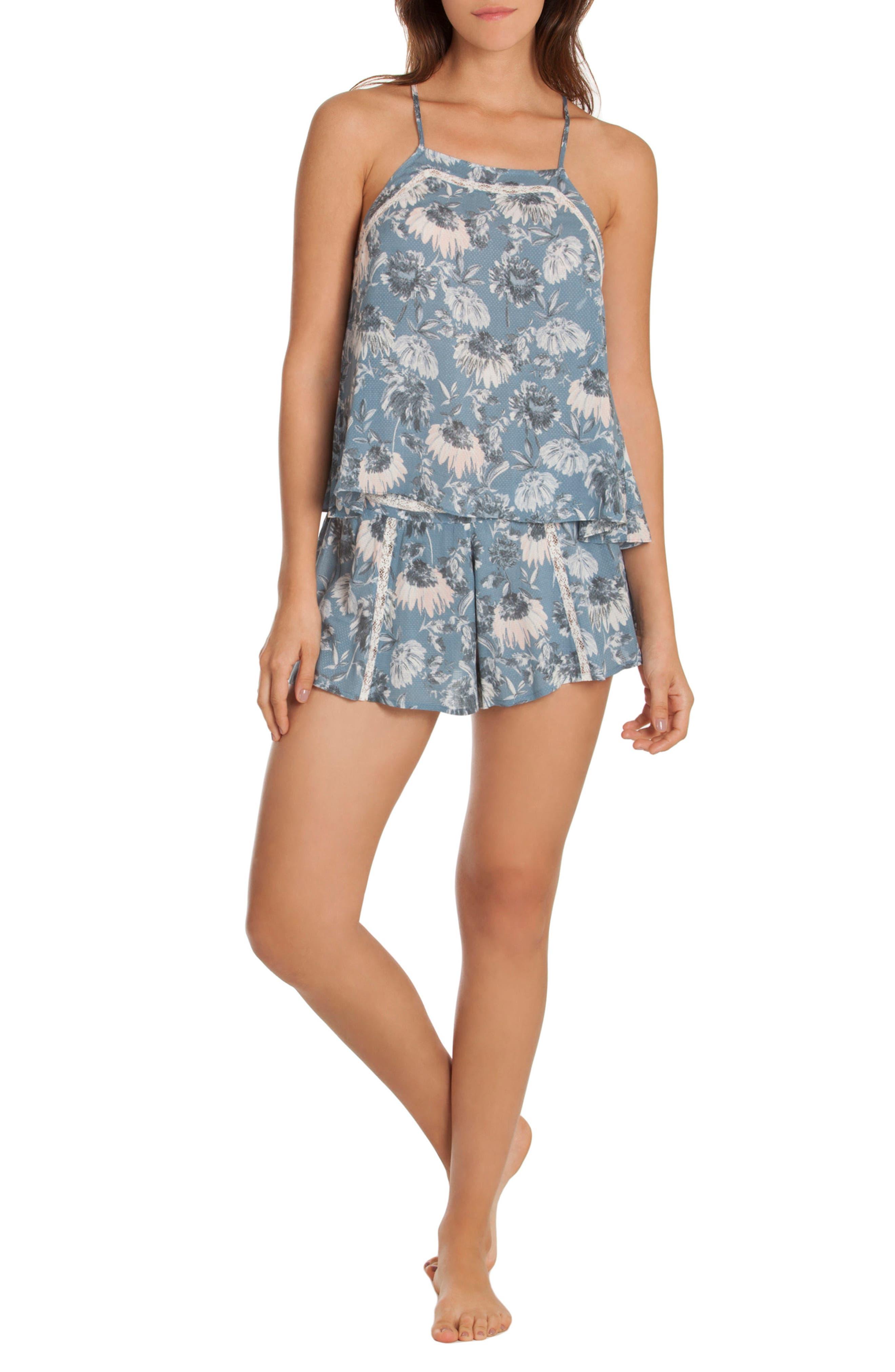 Floral Pajama Shorts,                             Alternate thumbnail 5, color,