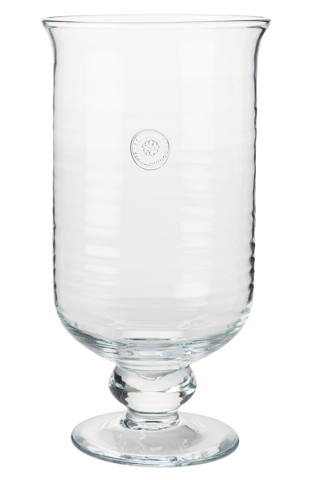 Berry & Thread Large Hurricane Glass Candleholder,                         Main,                         color, CLEAR