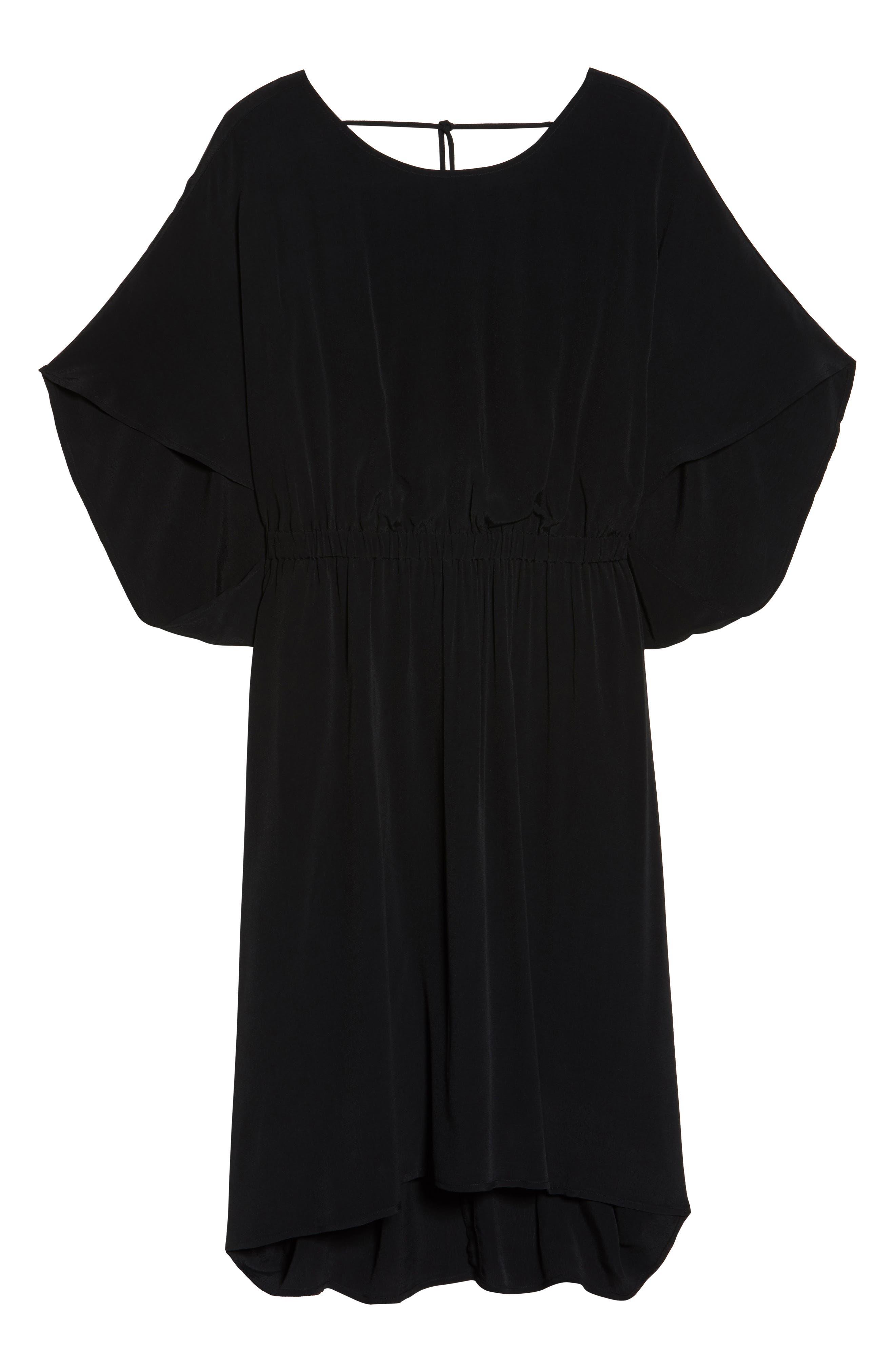High/Low Caftan Dress,                             Alternate thumbnail 7, color,                             001