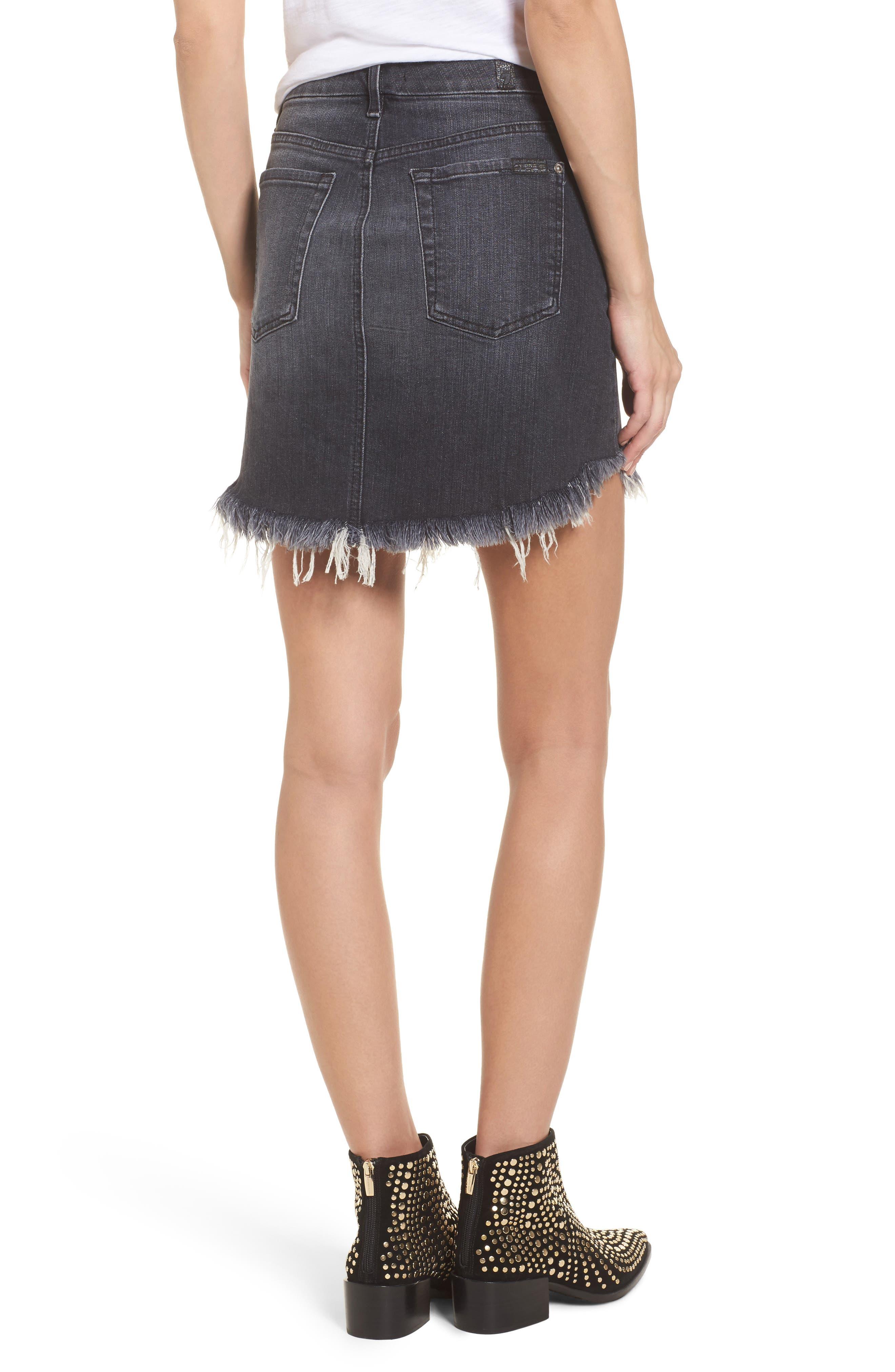 Denim Miniskirt,                             Alternate thumbnail 2, color,                             004