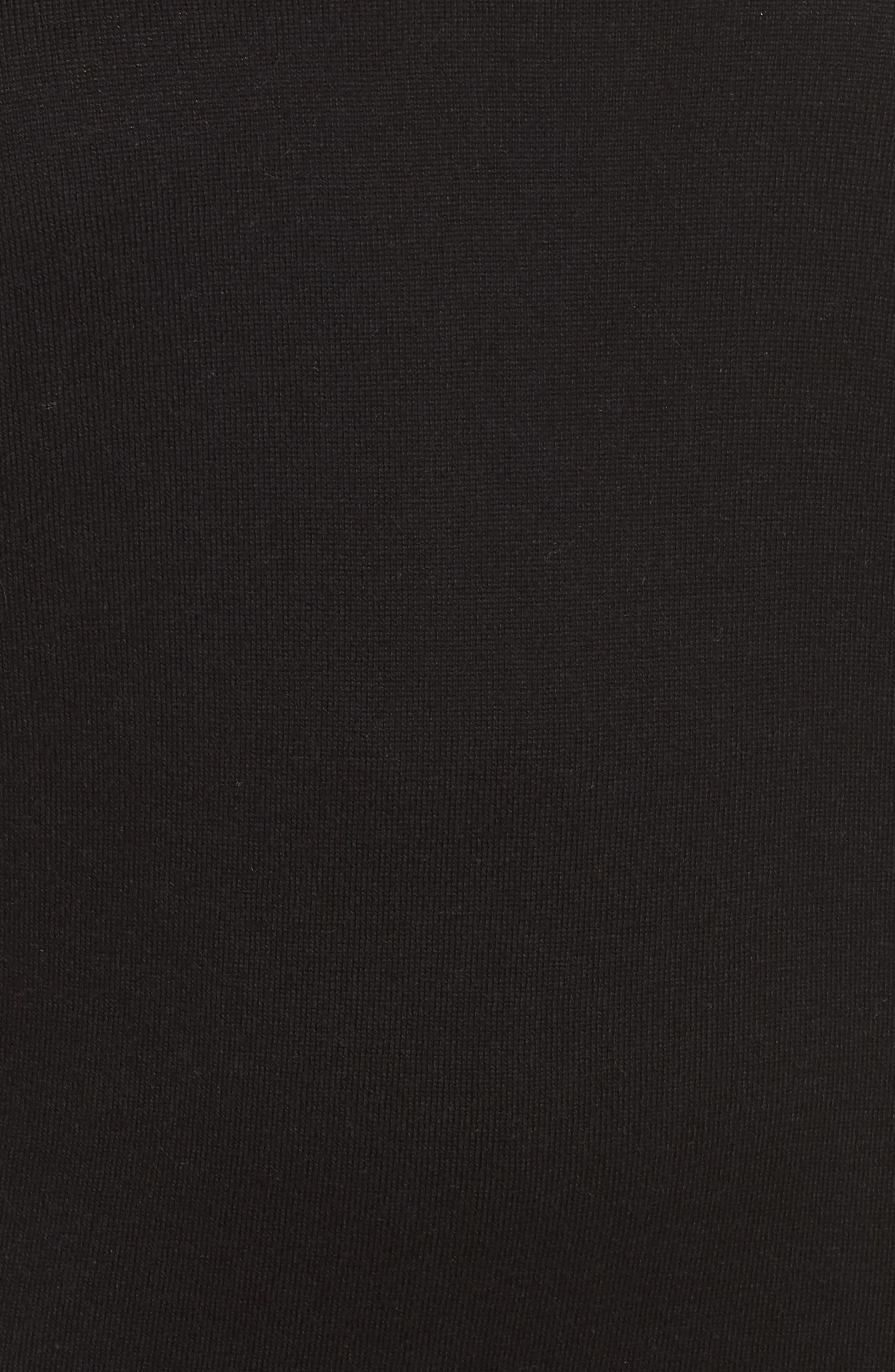 V-Neck Sweater,                             Alternate thumbnail 5, color,                             BLACK