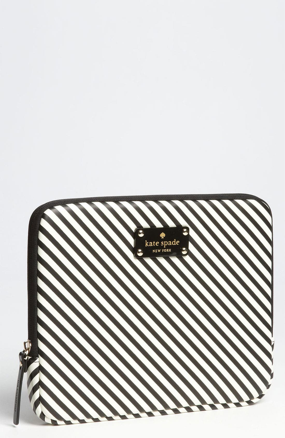 KATE SPADE NEW YORK,                             'harrison - stripe' iPad sleeve,                             Main thumbnail 1, color,                             019