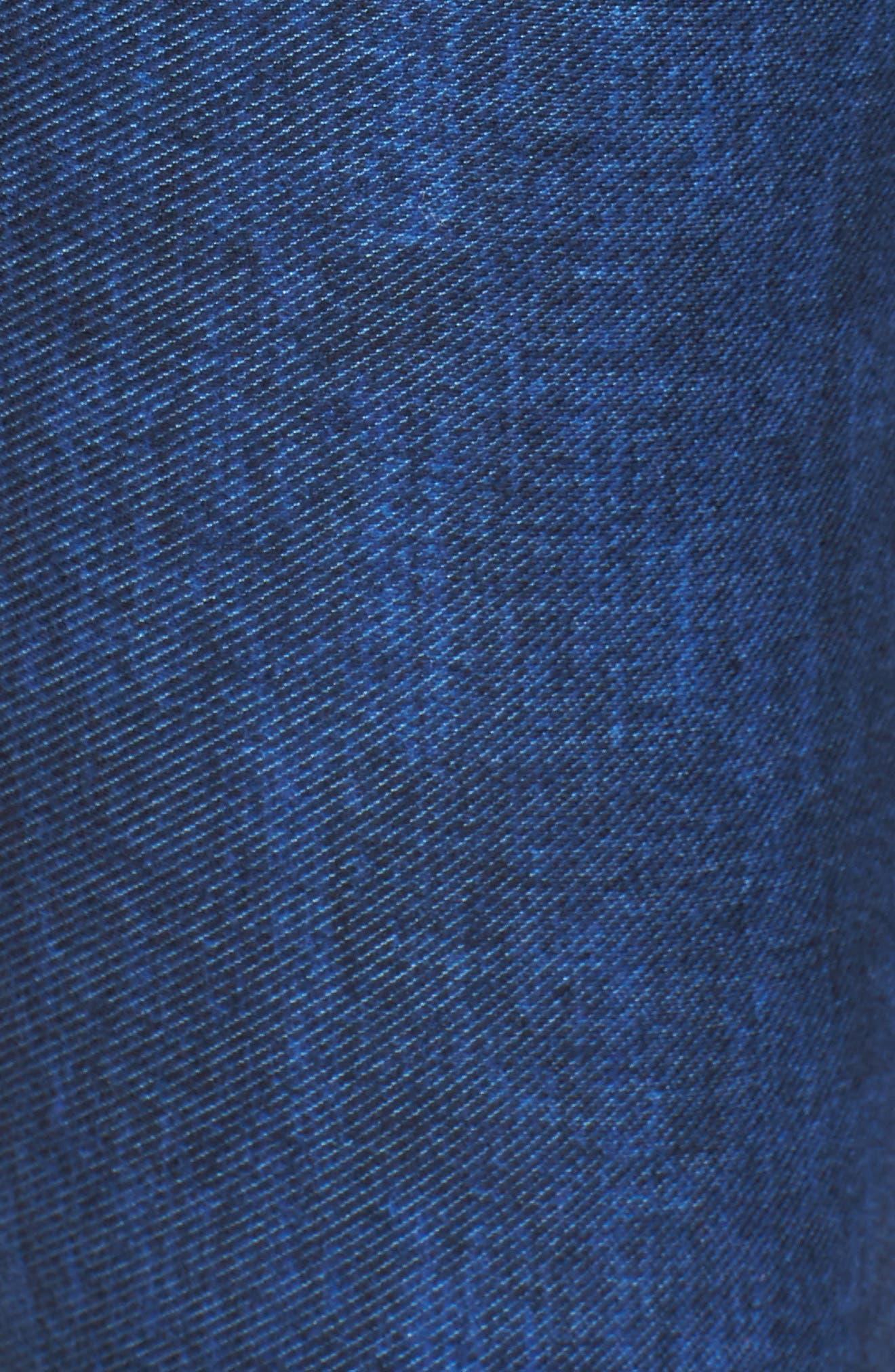 Michael Kors Denim Leggings,                             Alternate thumbnail 5, color,                             BLUE INDIGO