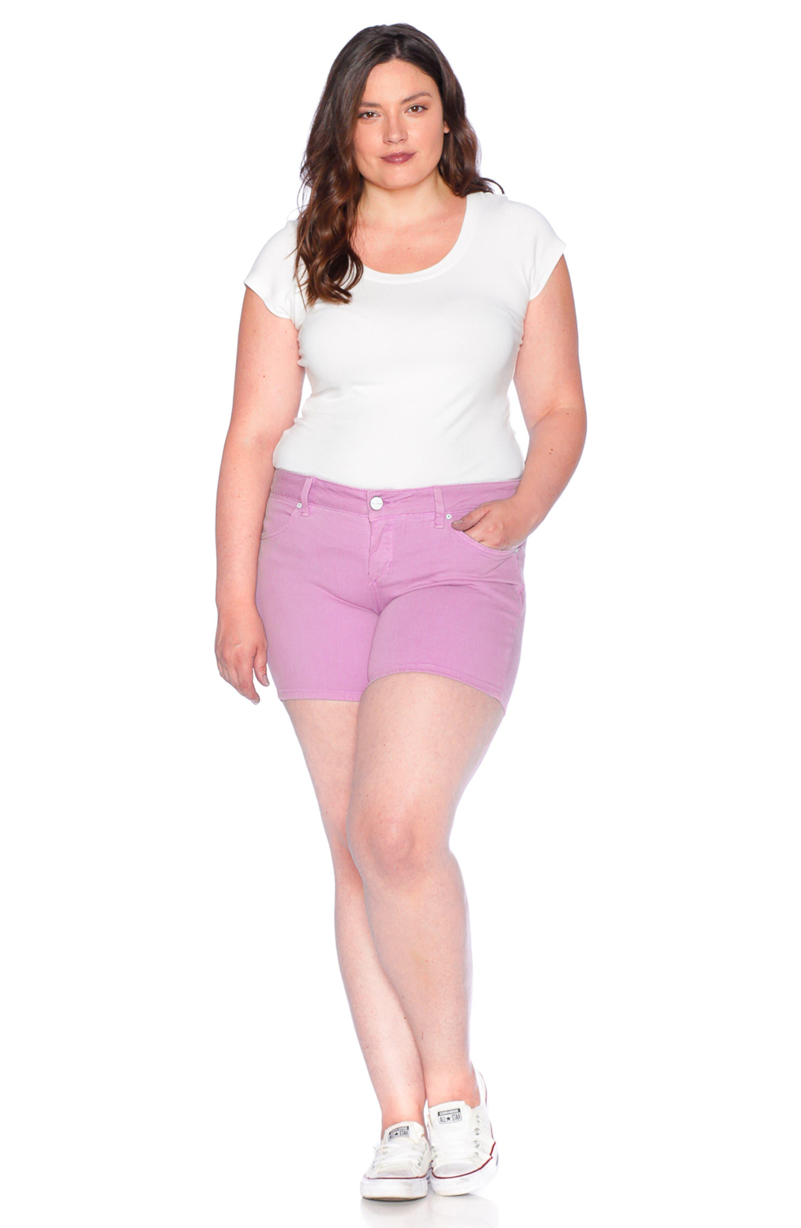 Camo Side Slit Shorts,                             Alternate thumbnail 5, color,                             MAUVE MIST