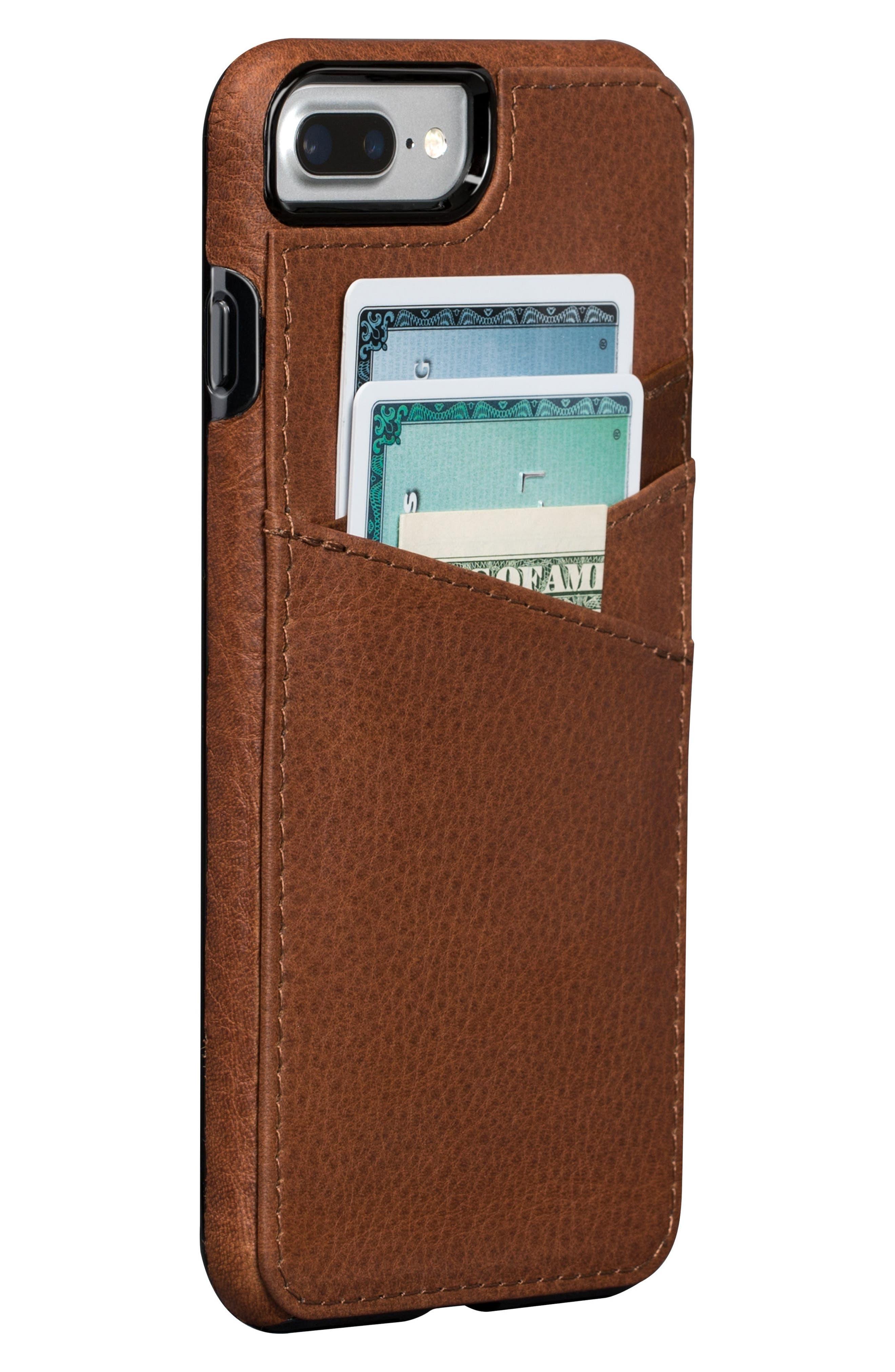Bence Lugano iPhone 7/8 Plus Wallet Case,                         Main,                         color, SADDLE