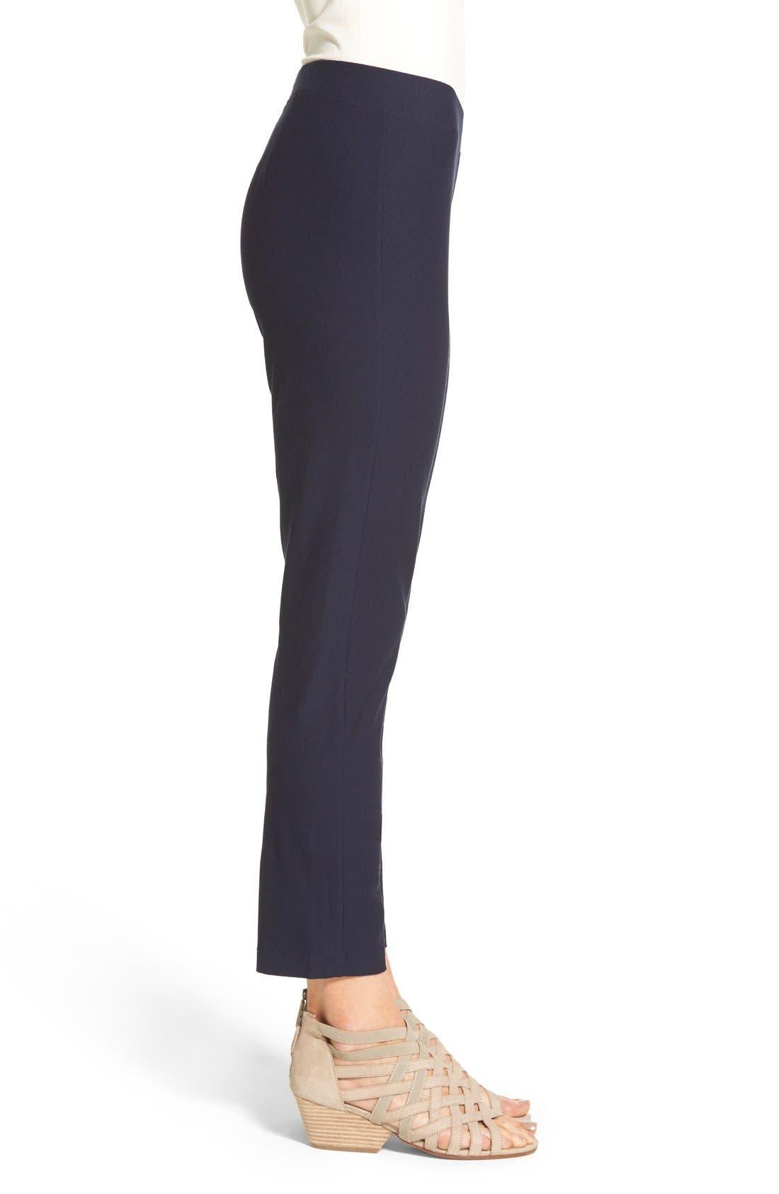 Stretch Crepe Slim Ankle Pants,                             Alternate thumbnail 110, color,